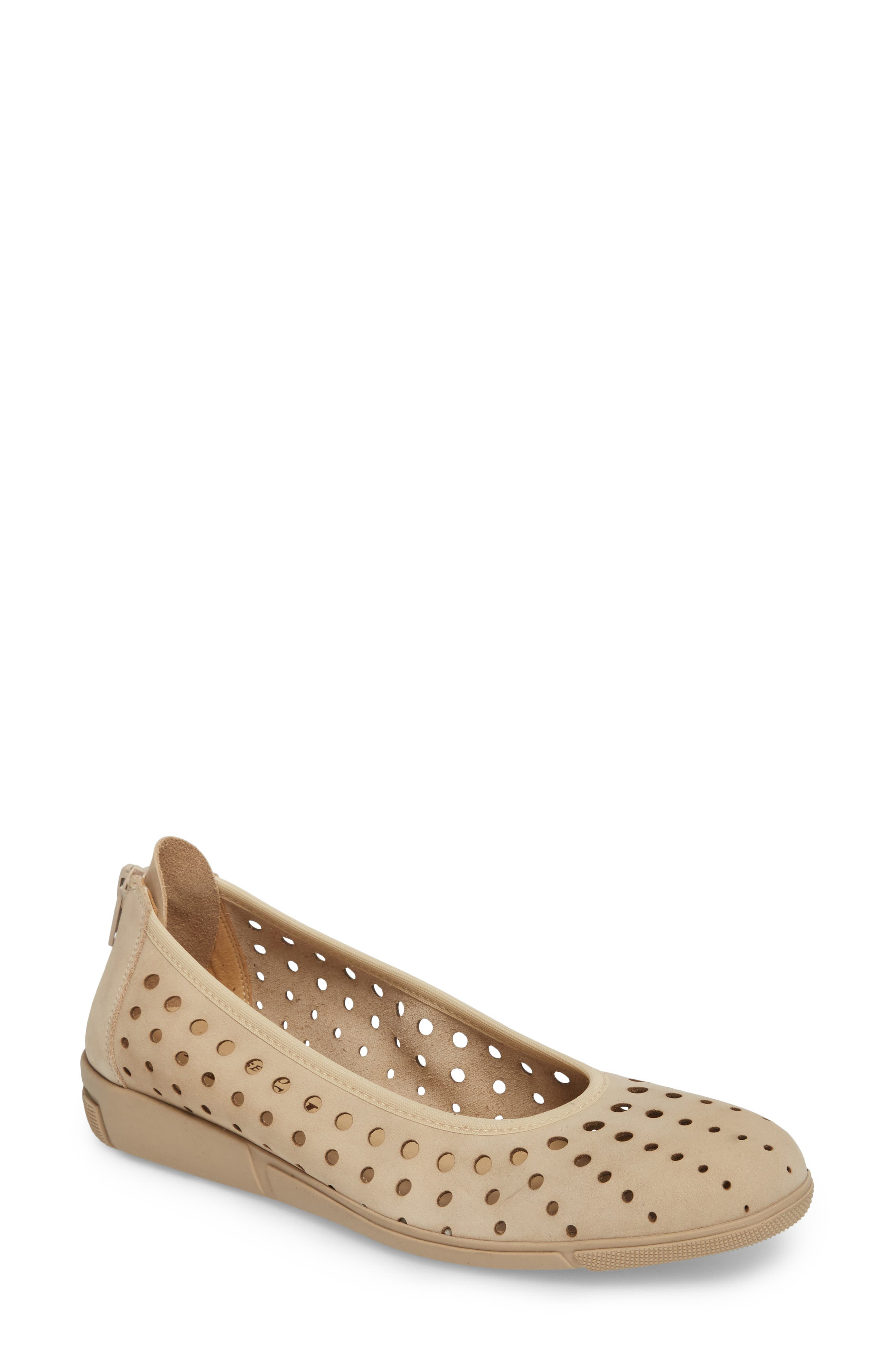 Diva Perforated Skimmer,                             Main thumbnail 1, color,                             Beige Nubuck