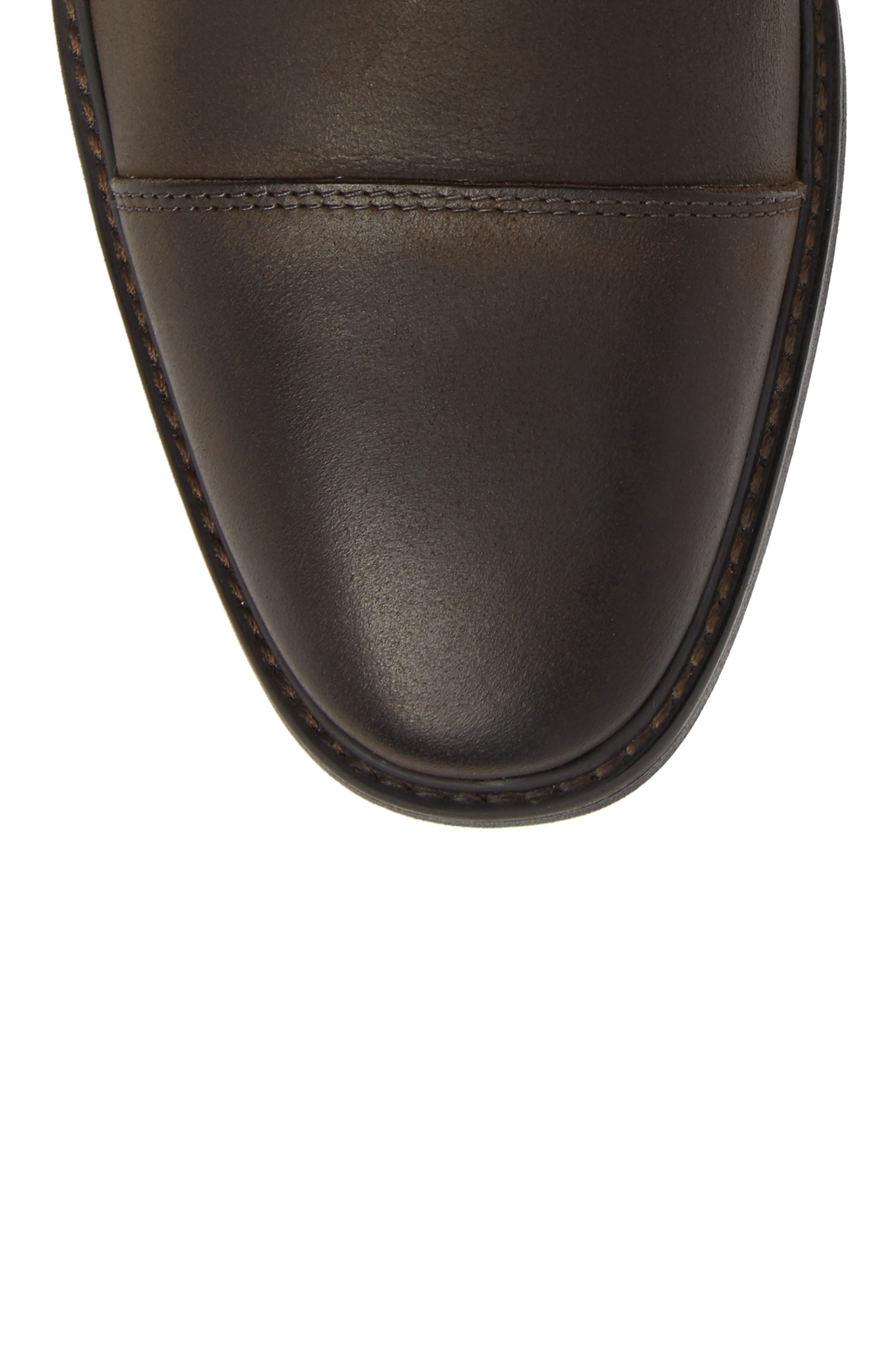 Pateros Cap Toe Boot,                             Alternate thumbnail 5, color,                             Chocolate Leather