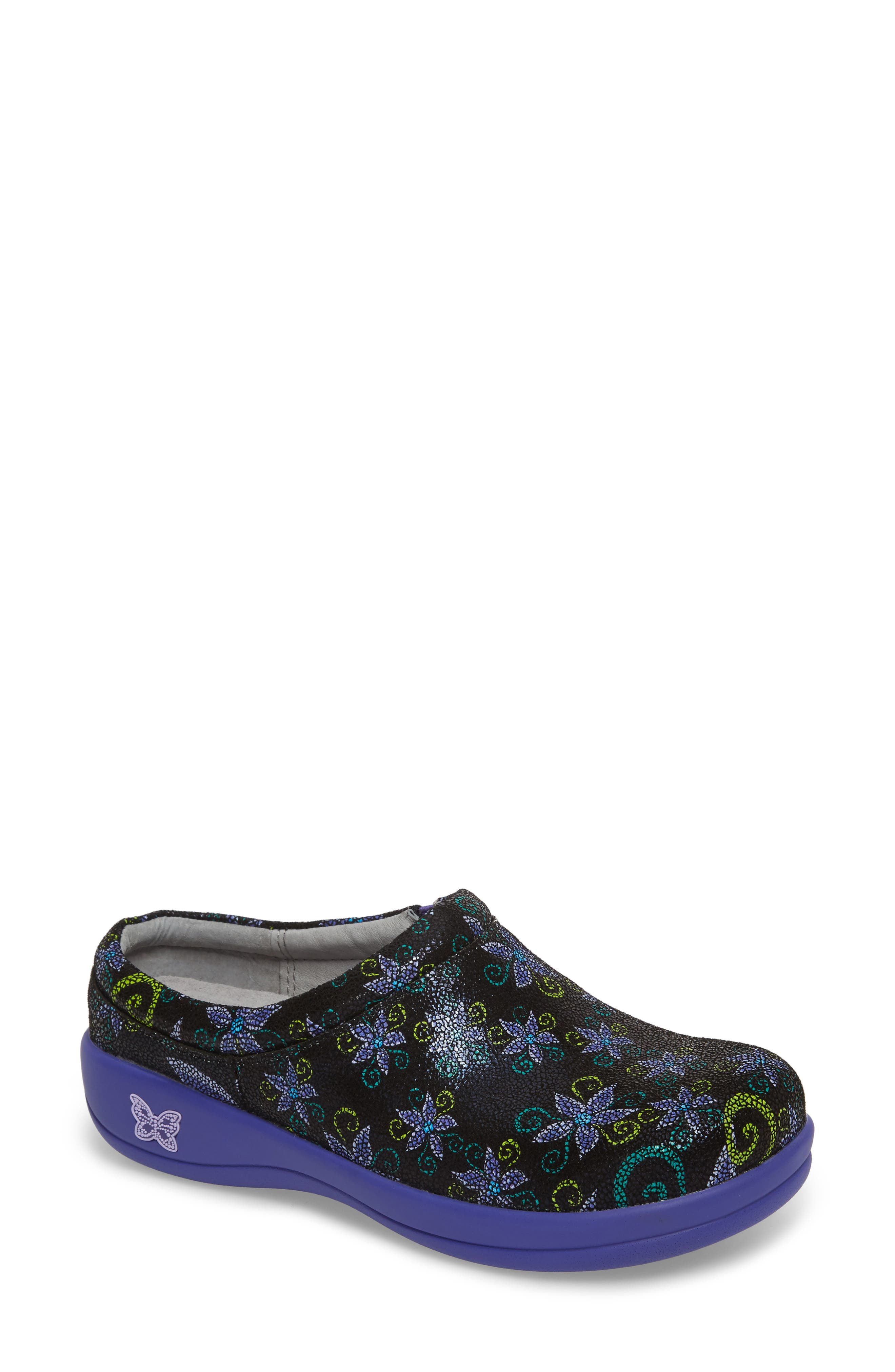 'Kayla' Clog,                             Main thumbnail 1, color,                             Wild Flower Leather