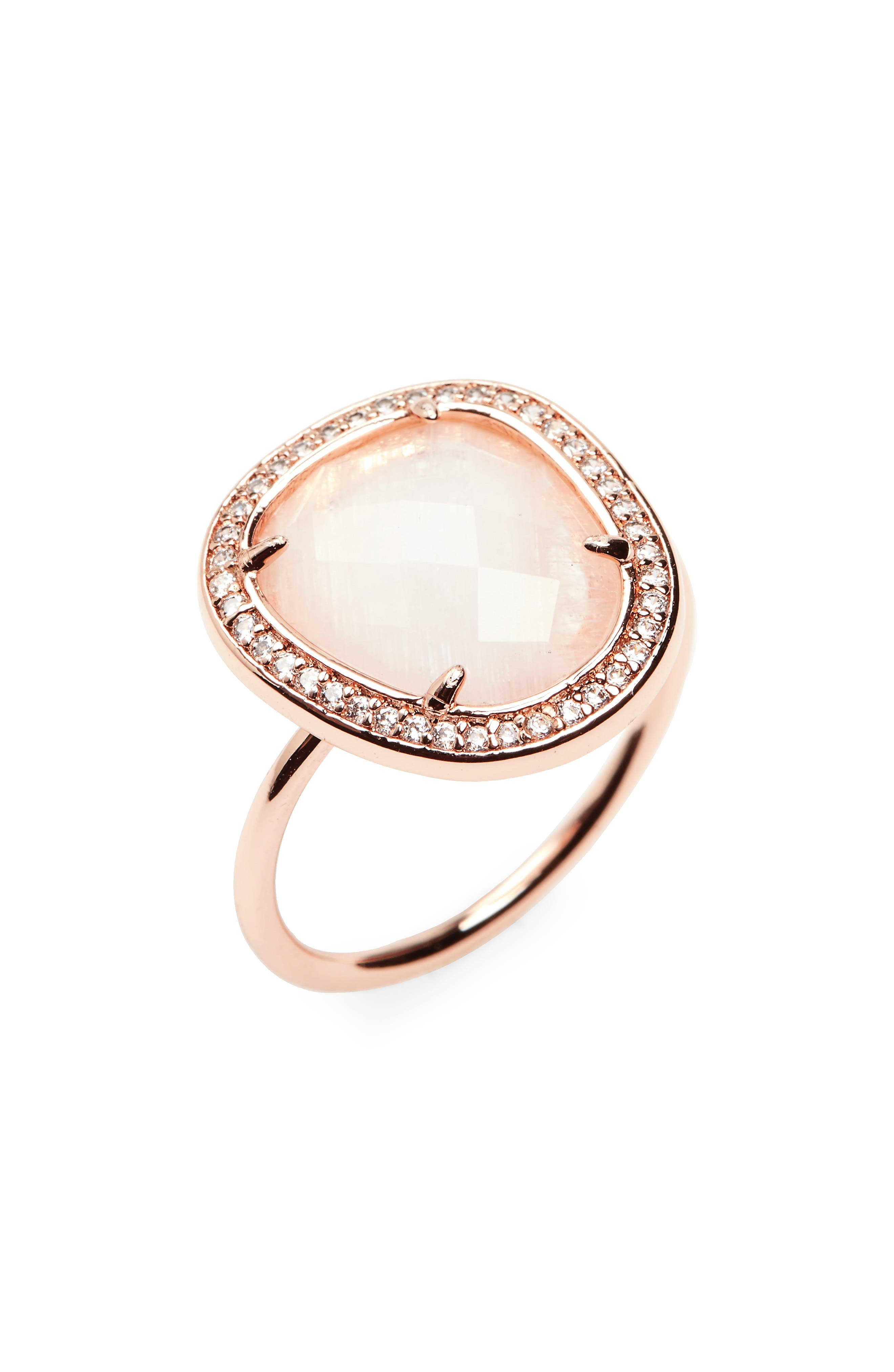Moonstone Ring,                         Main,                         color, Moonstone/ Rose Gold