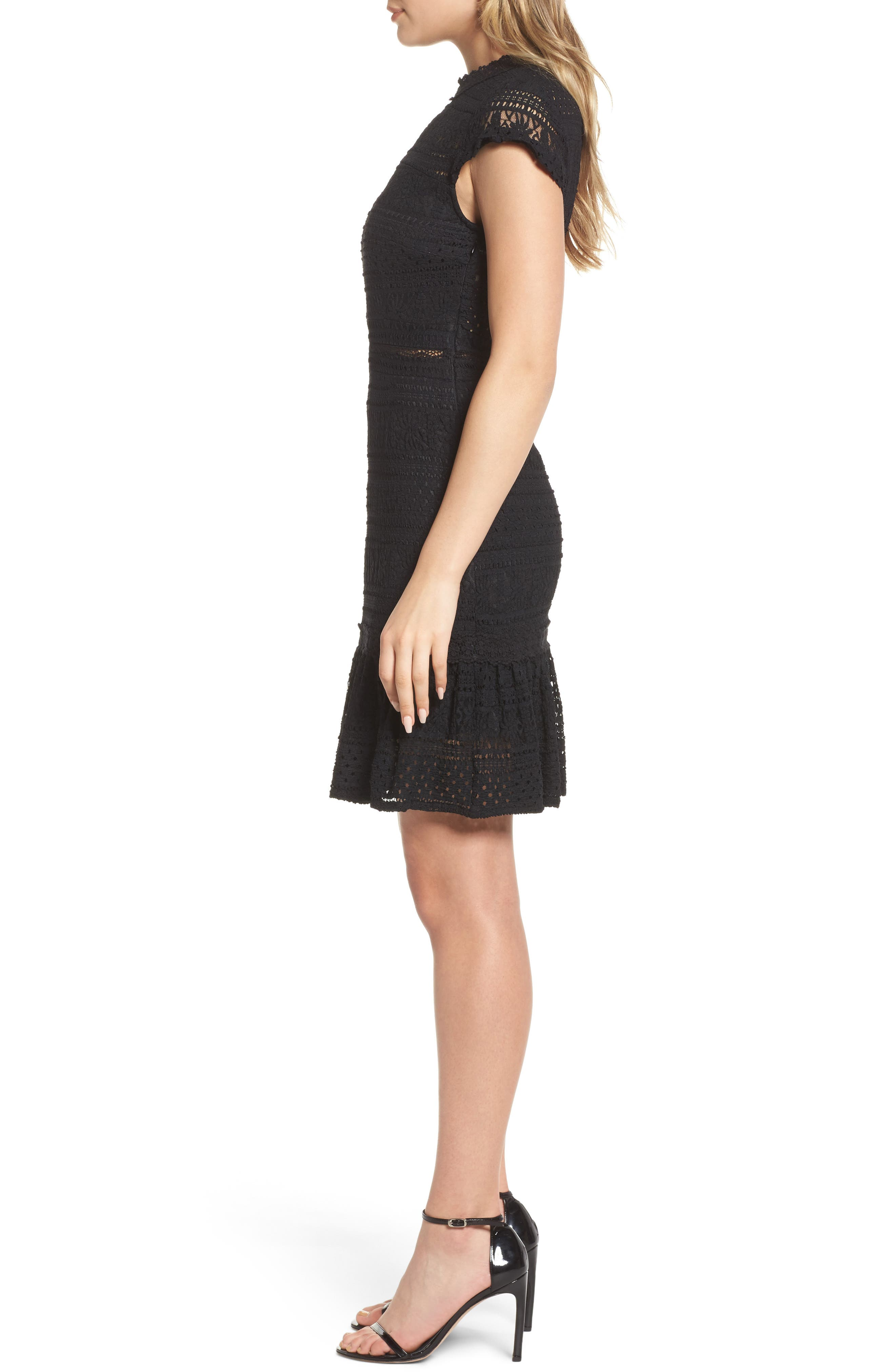 Alternate Image 3  - Foxiedox Ellie Fit & Flare Lace Dress