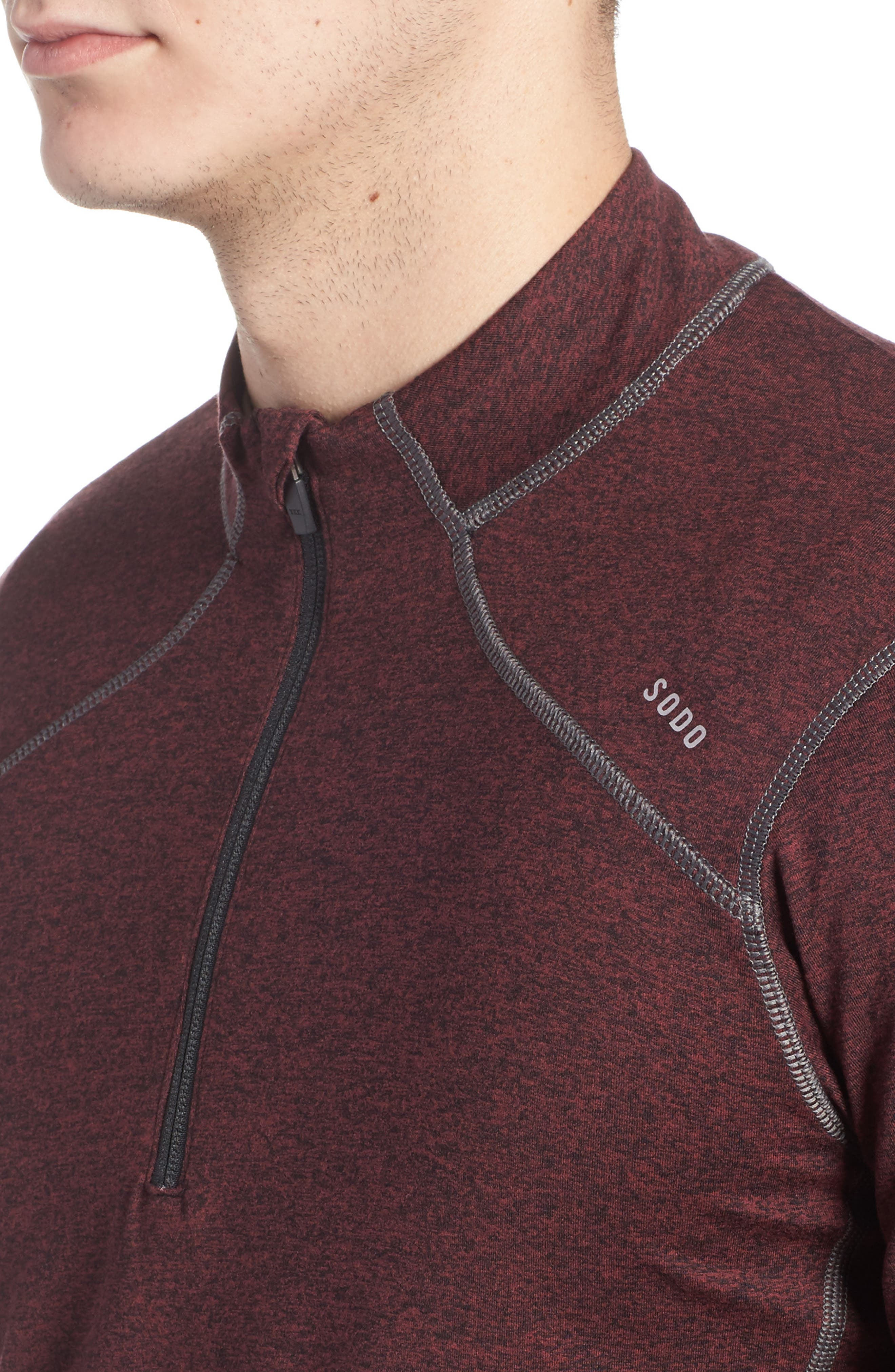 Alternate Image 3  - SODO 'Elevate' Moisture Wicking Stretch Quarter Zip Pullover