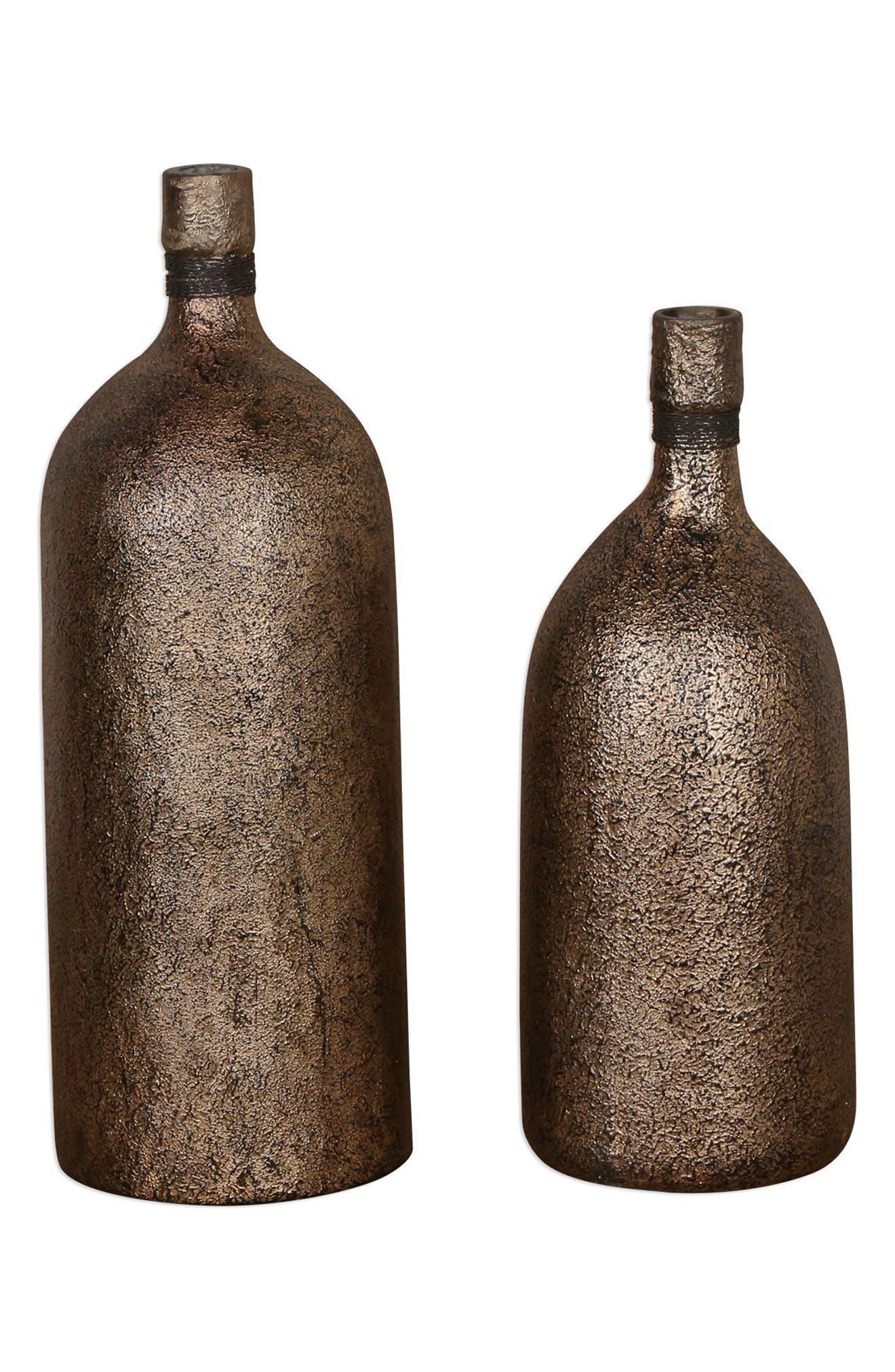 Biren Set of 2 Vases,                             Main thumbnail 1, color,                             Metallic Rust/ Copper