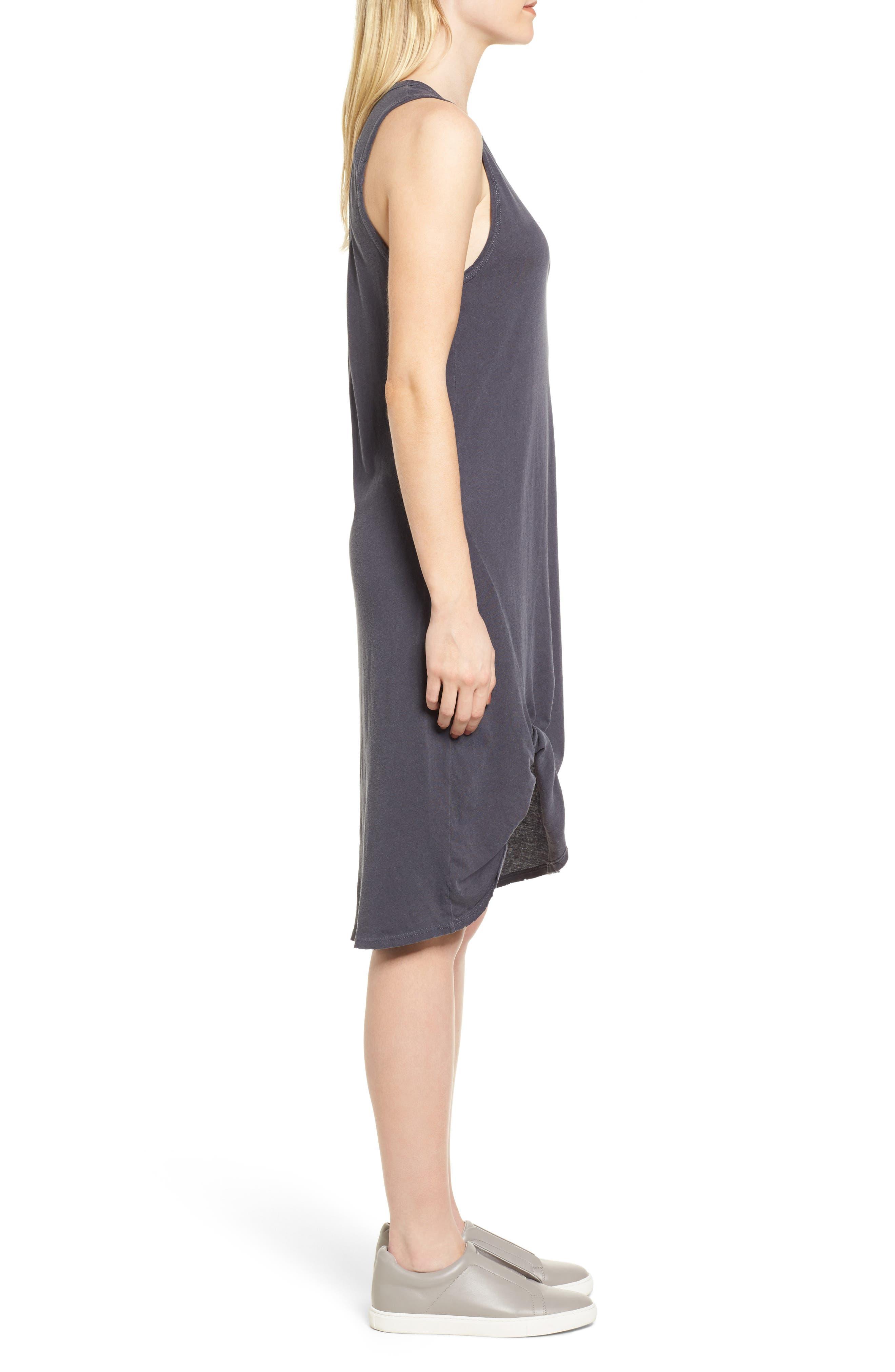 Boo Jersey Tank Dress,                             Alternate thumbnail 3, color,                             Asphalt