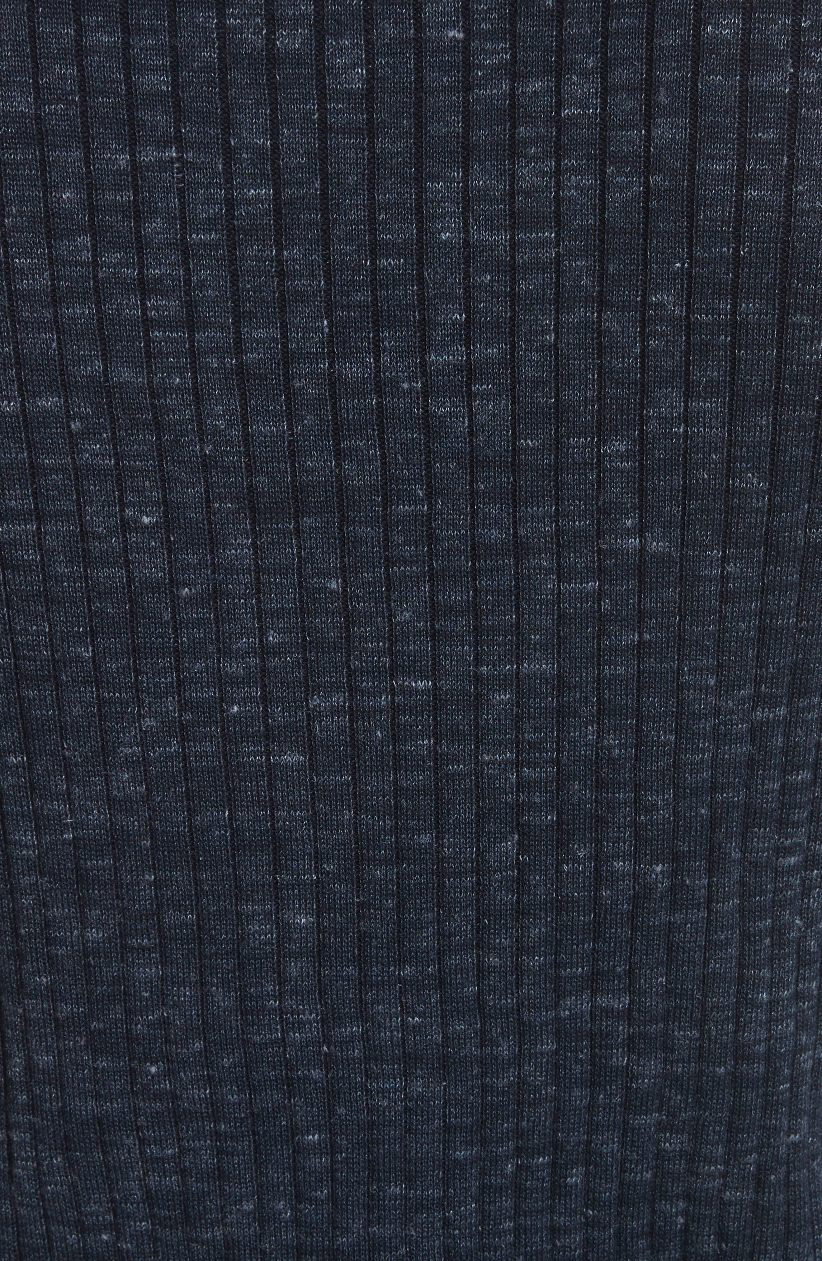 Alternate Image 5  - John Varvatos Collection Mélange Stripe Sweater