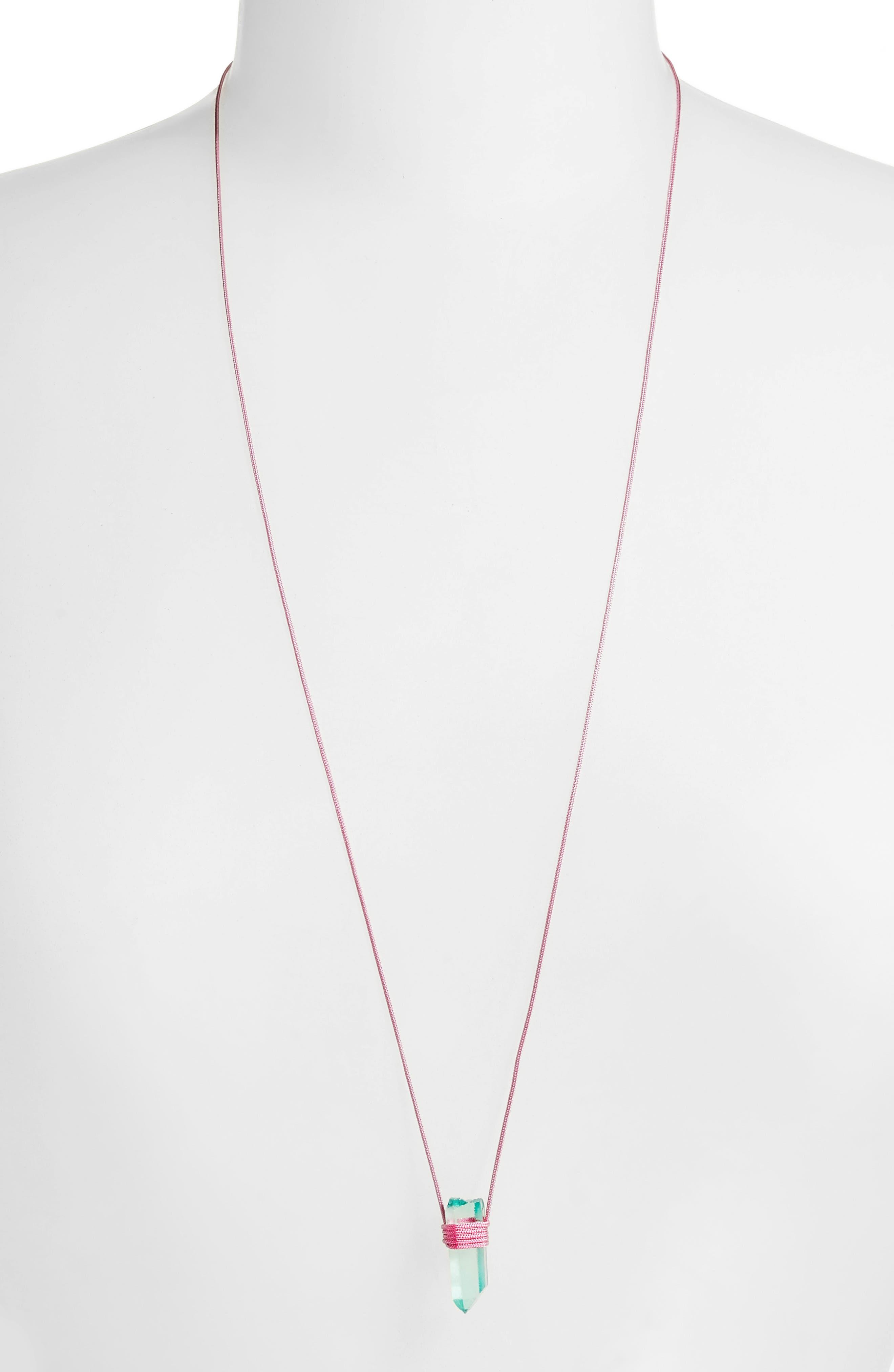 Alternate Image 2  - Tina Lilienthal Green Quartz Pendant Necklace