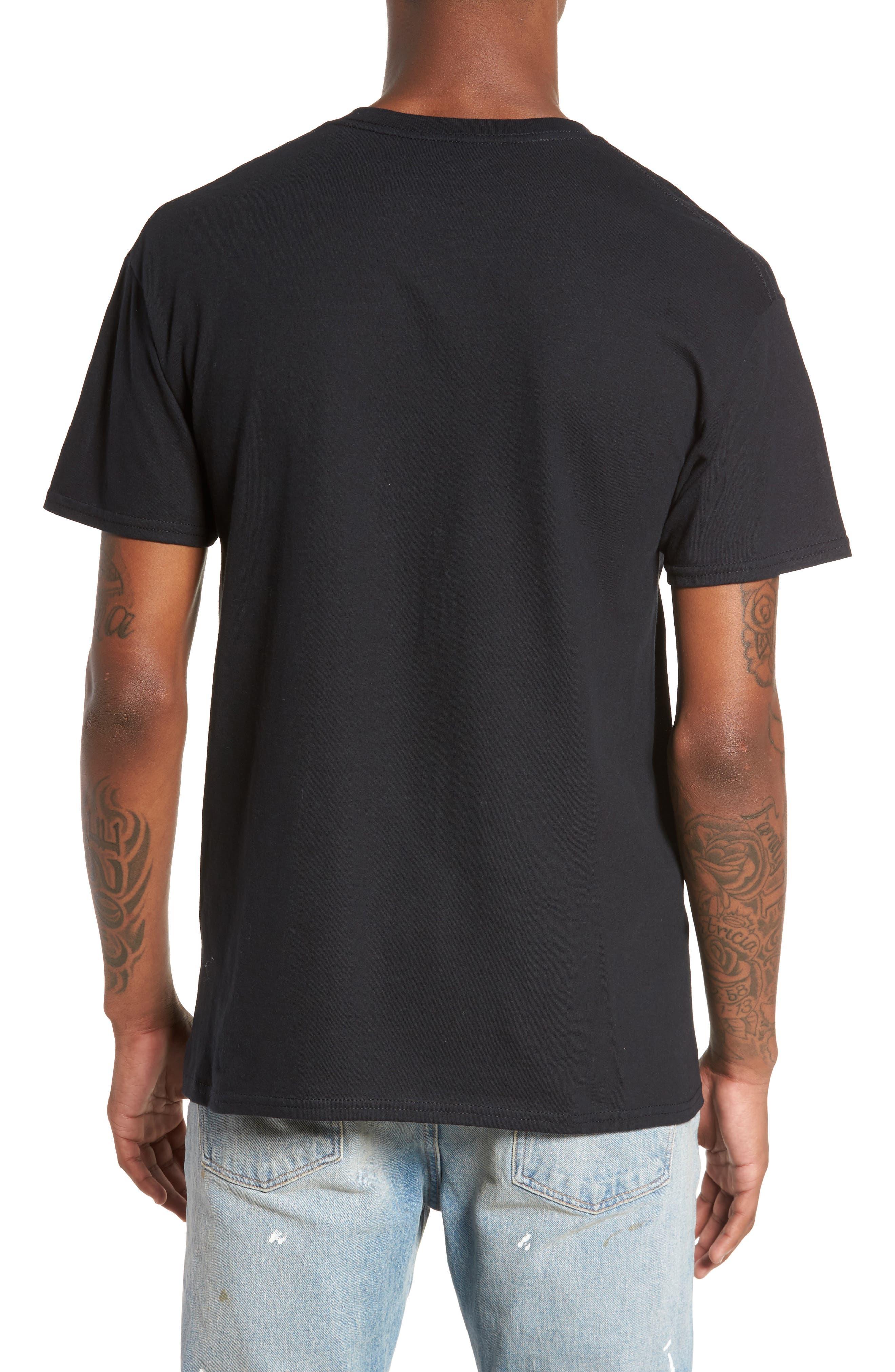 Ice Cube T-Shirt,                             Alternate thumbnail 2, color,                             Black Tee Ice Cube Face