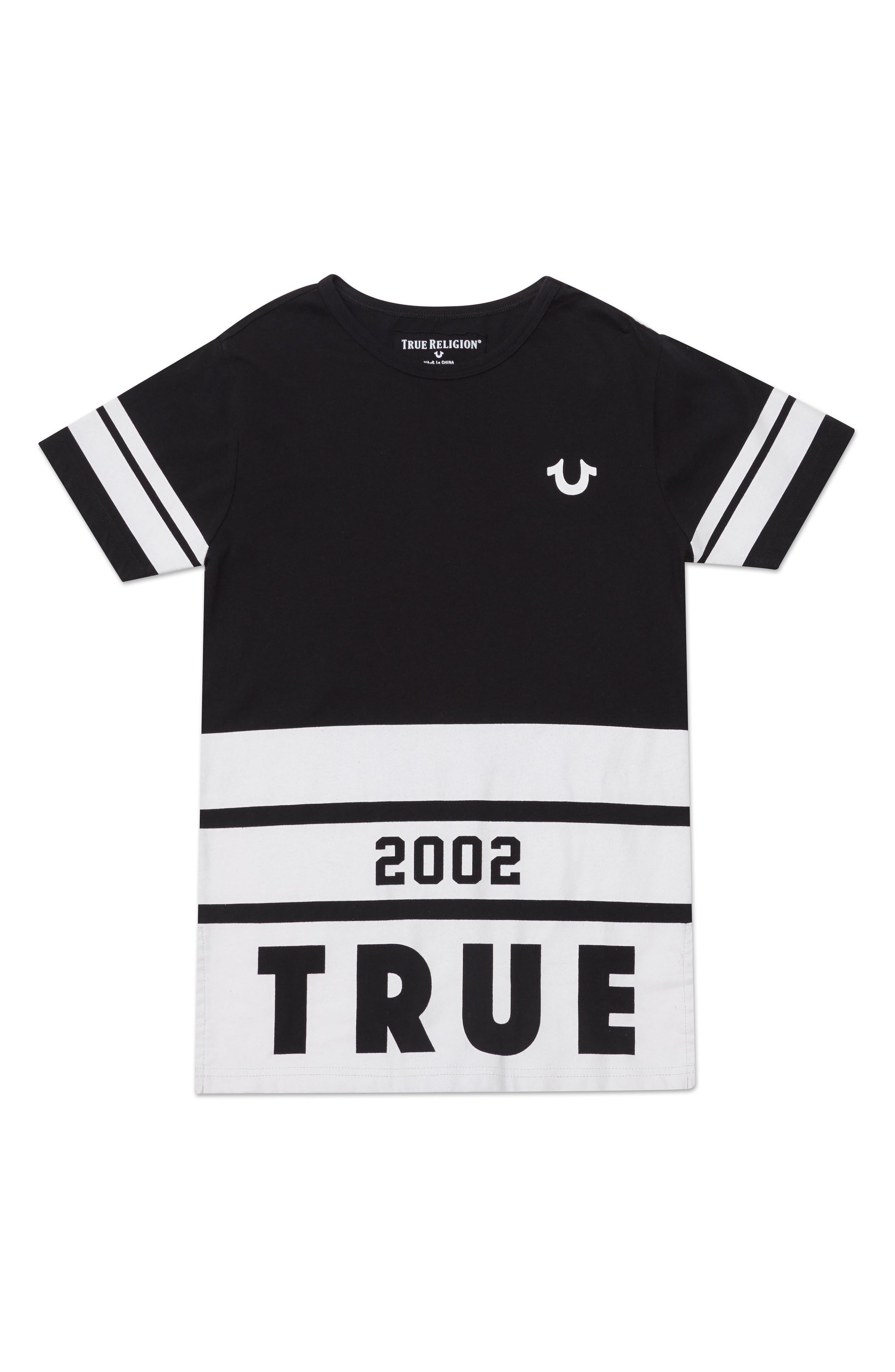 Longline Logo T-Shirt,                         Main,                         color, Black