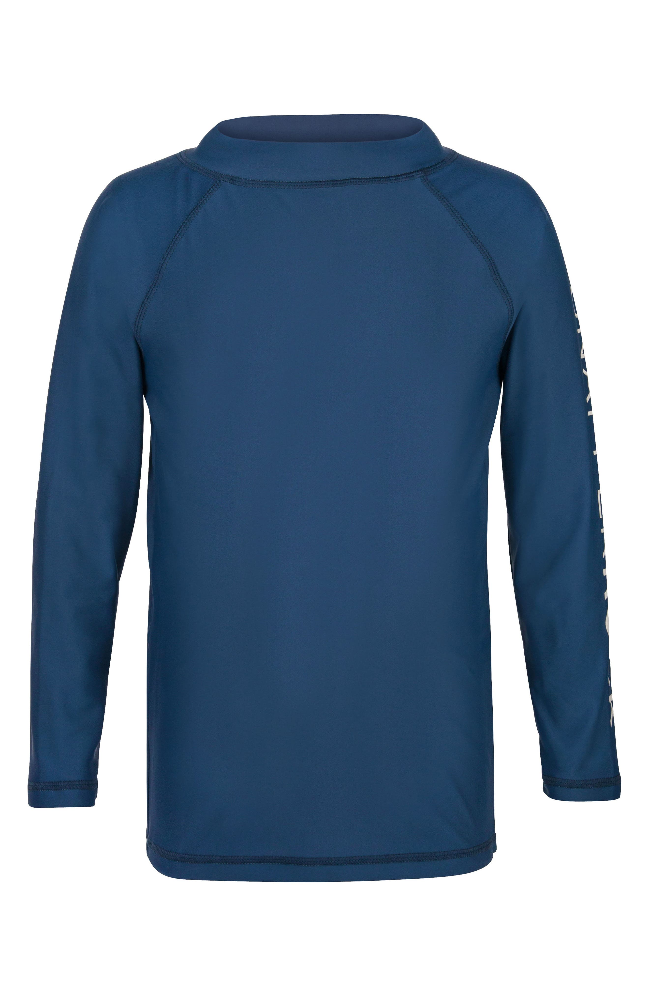 Raglan Long Sleeve Rashguard,                             Main thumbnail 1, color,                             Denim