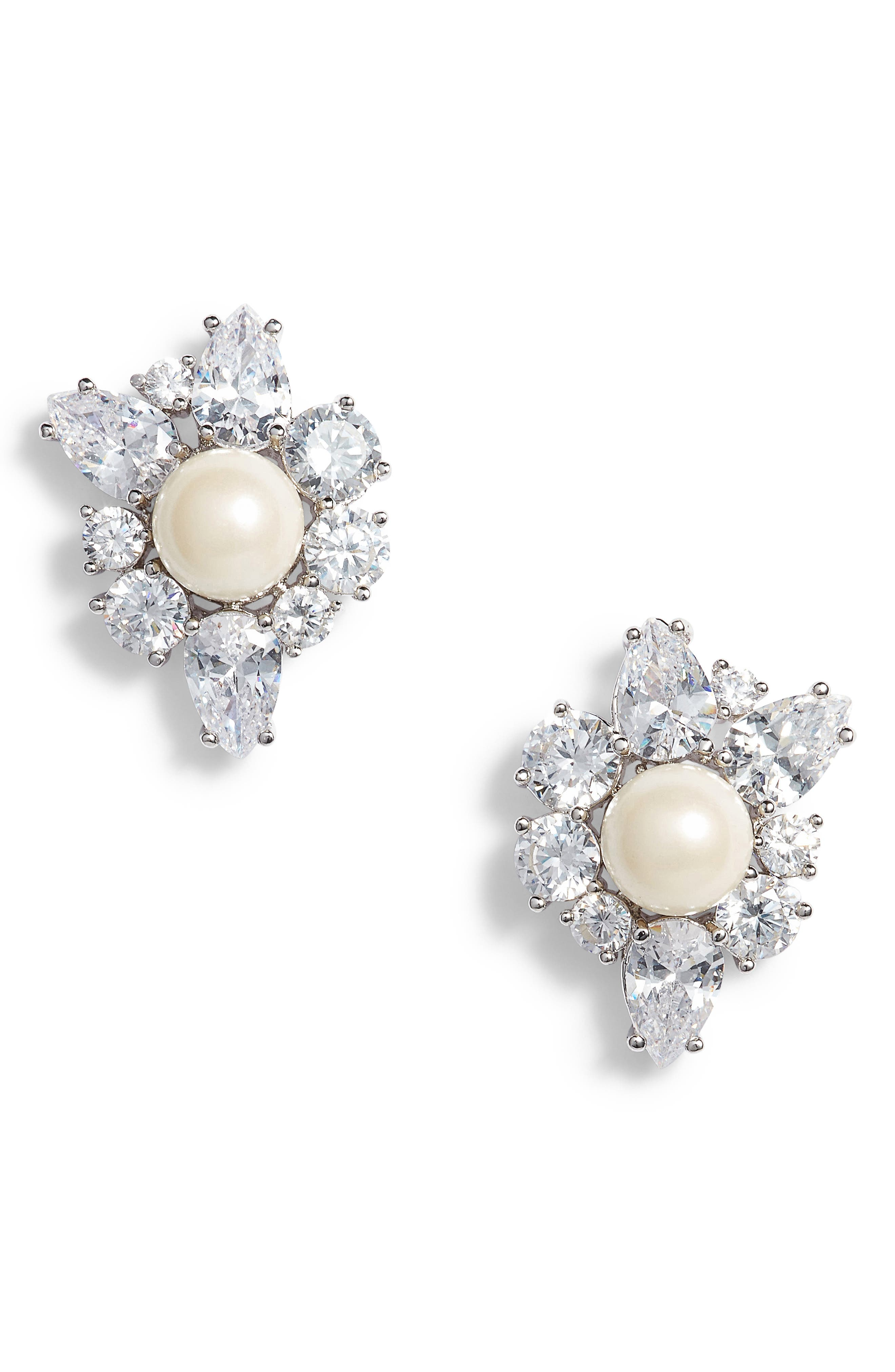 Main Image - kate spade new york flying colors pearl cluster earrings