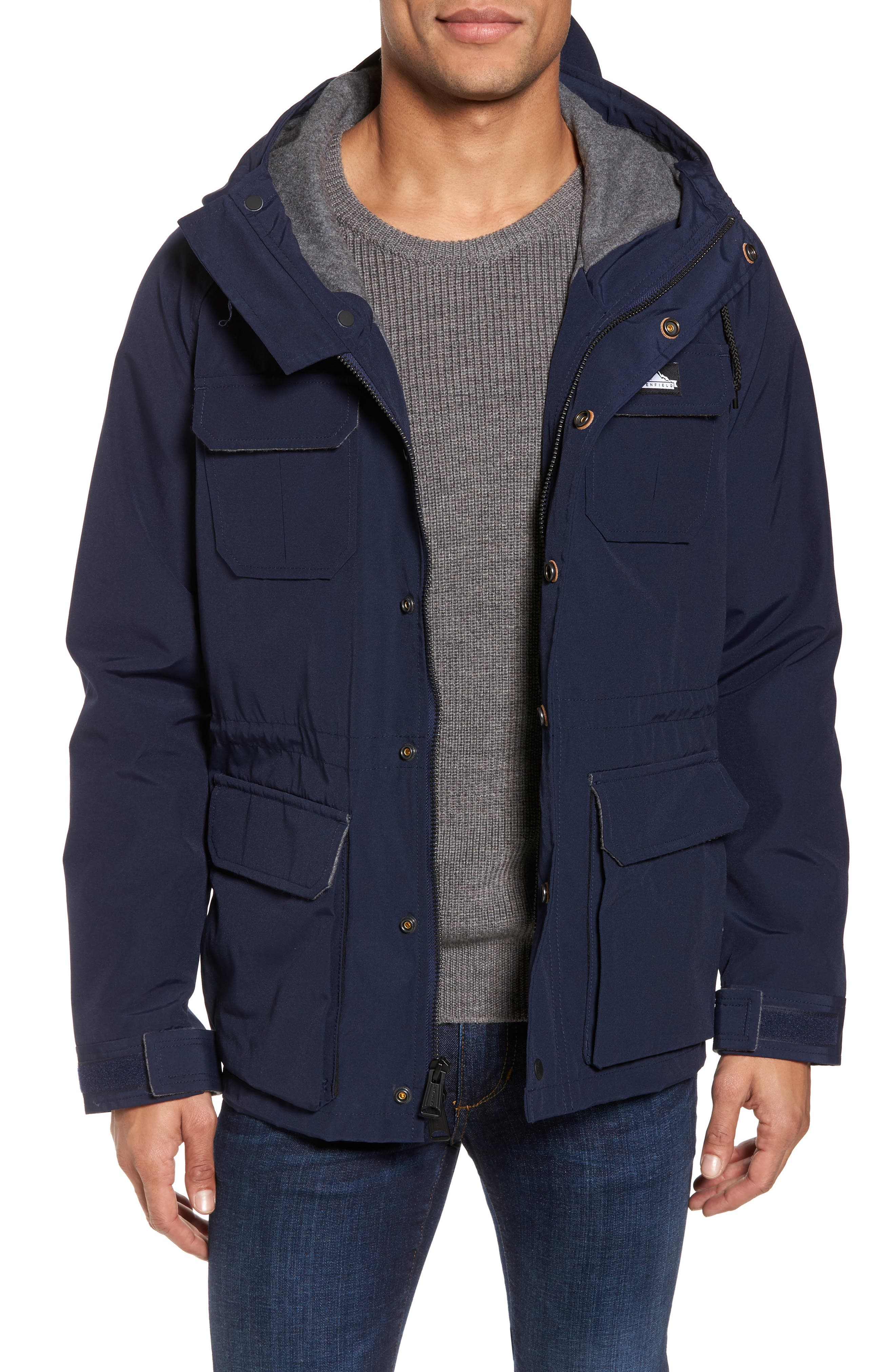 Kasson Parka,                             Main thumbnail 1, color,                             Navy