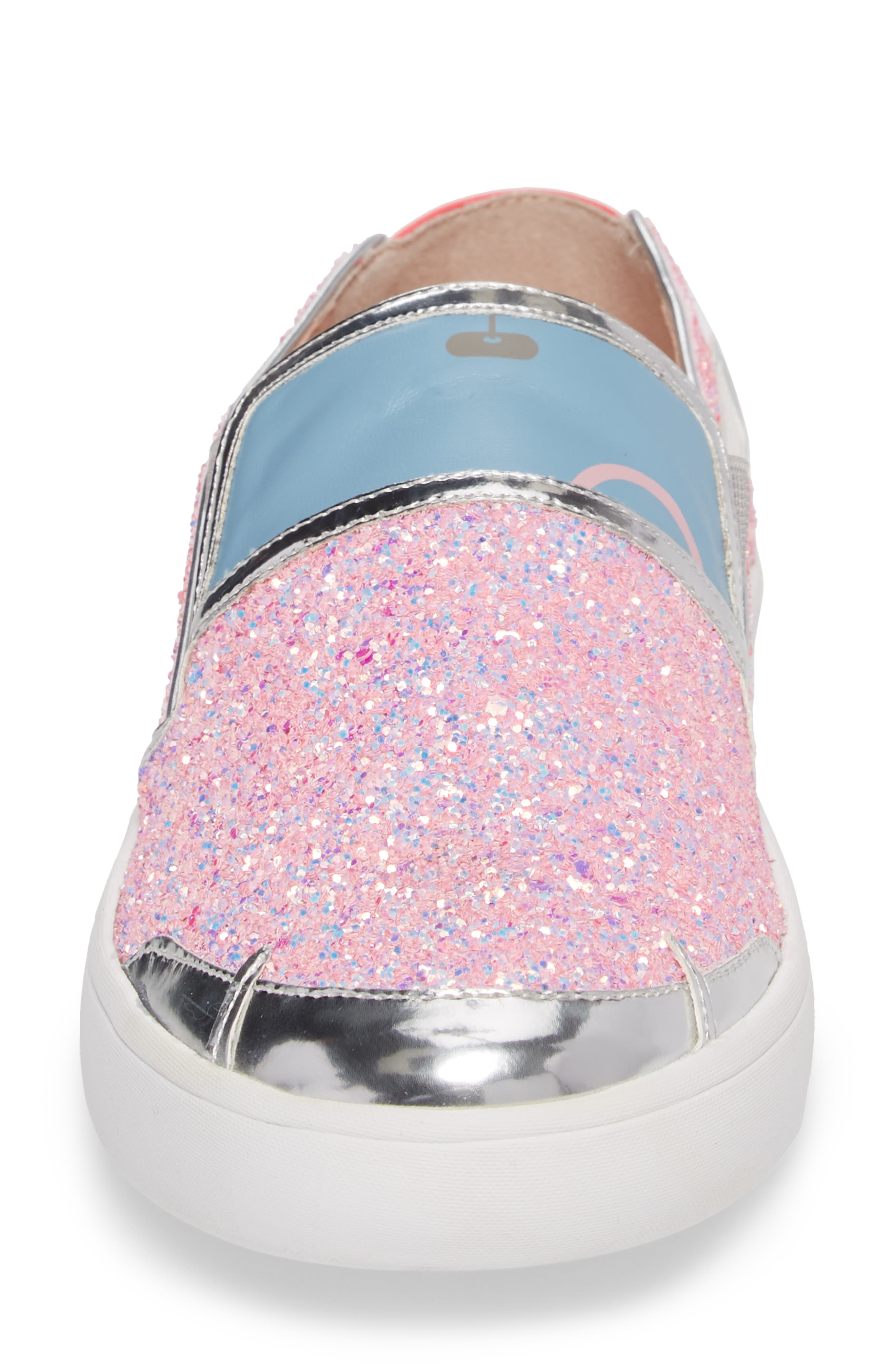 Lotus Slip-On Sneaker,                             Alternate thumbnail 4, color,                             Pink