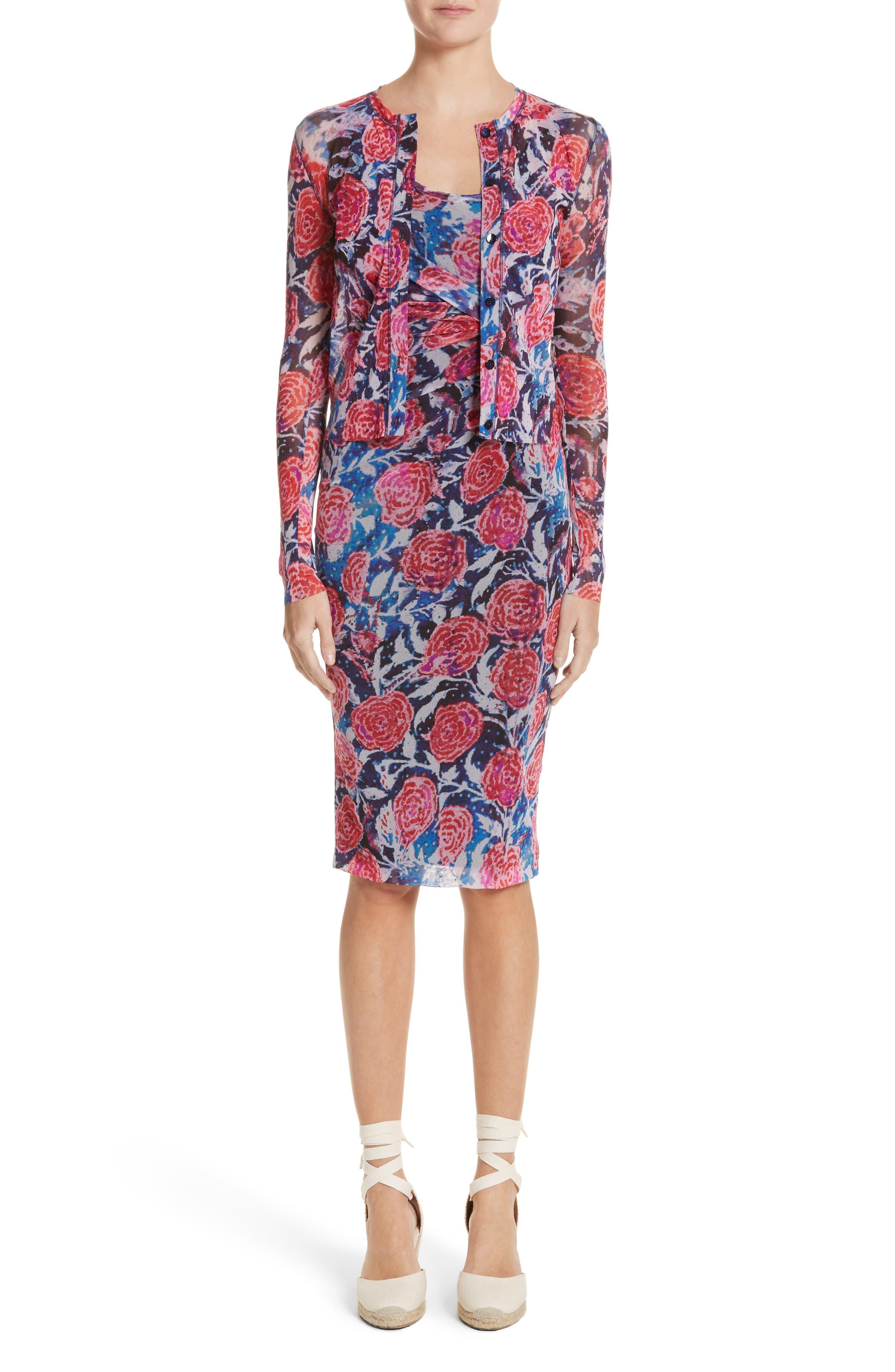 Print Tulle Tank Dress,                             Alternate thumbnail 2, color,                             Copiativc