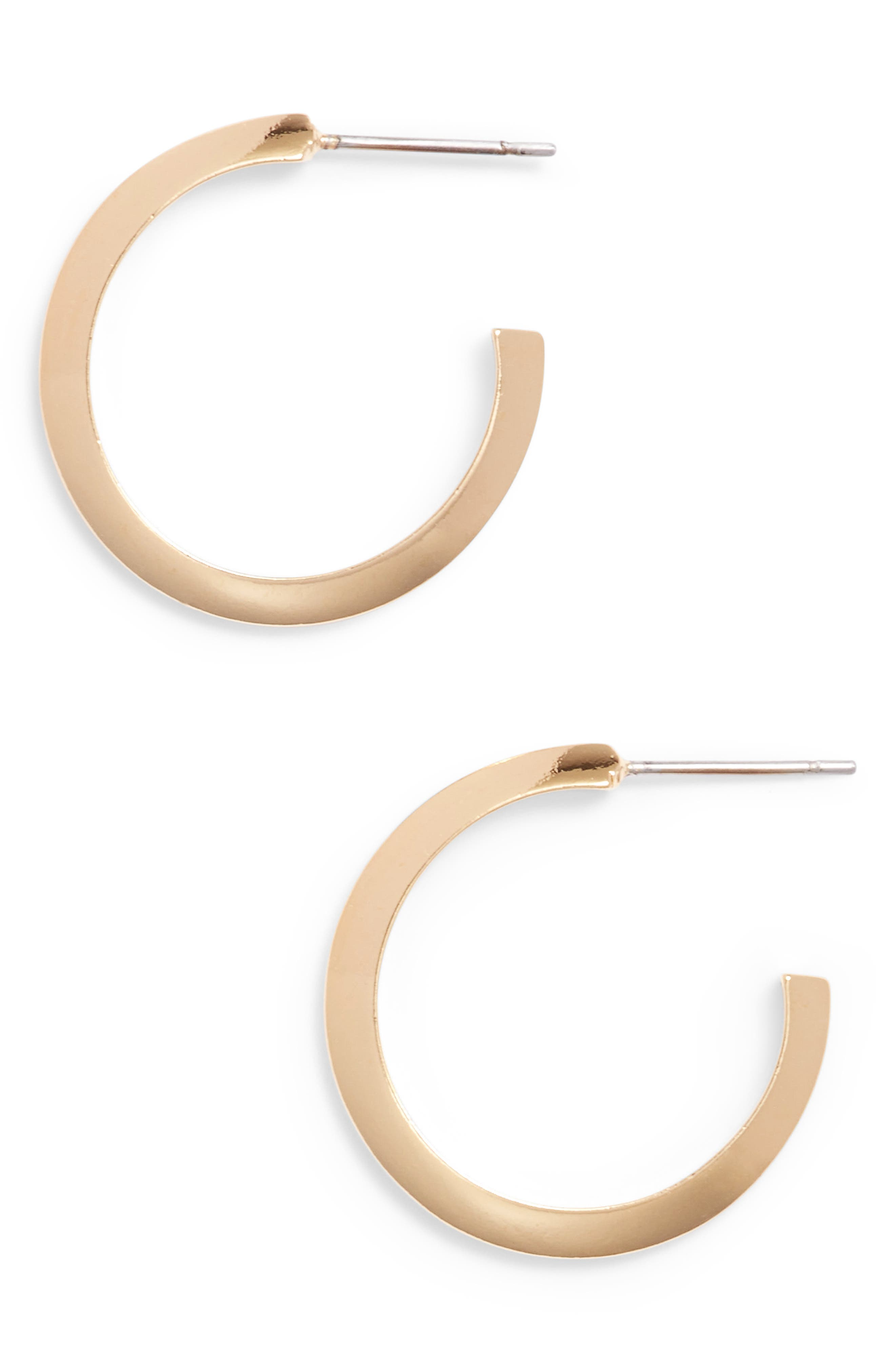 Main Image - Stella Valle Triangle Shaped Hoop Earrings