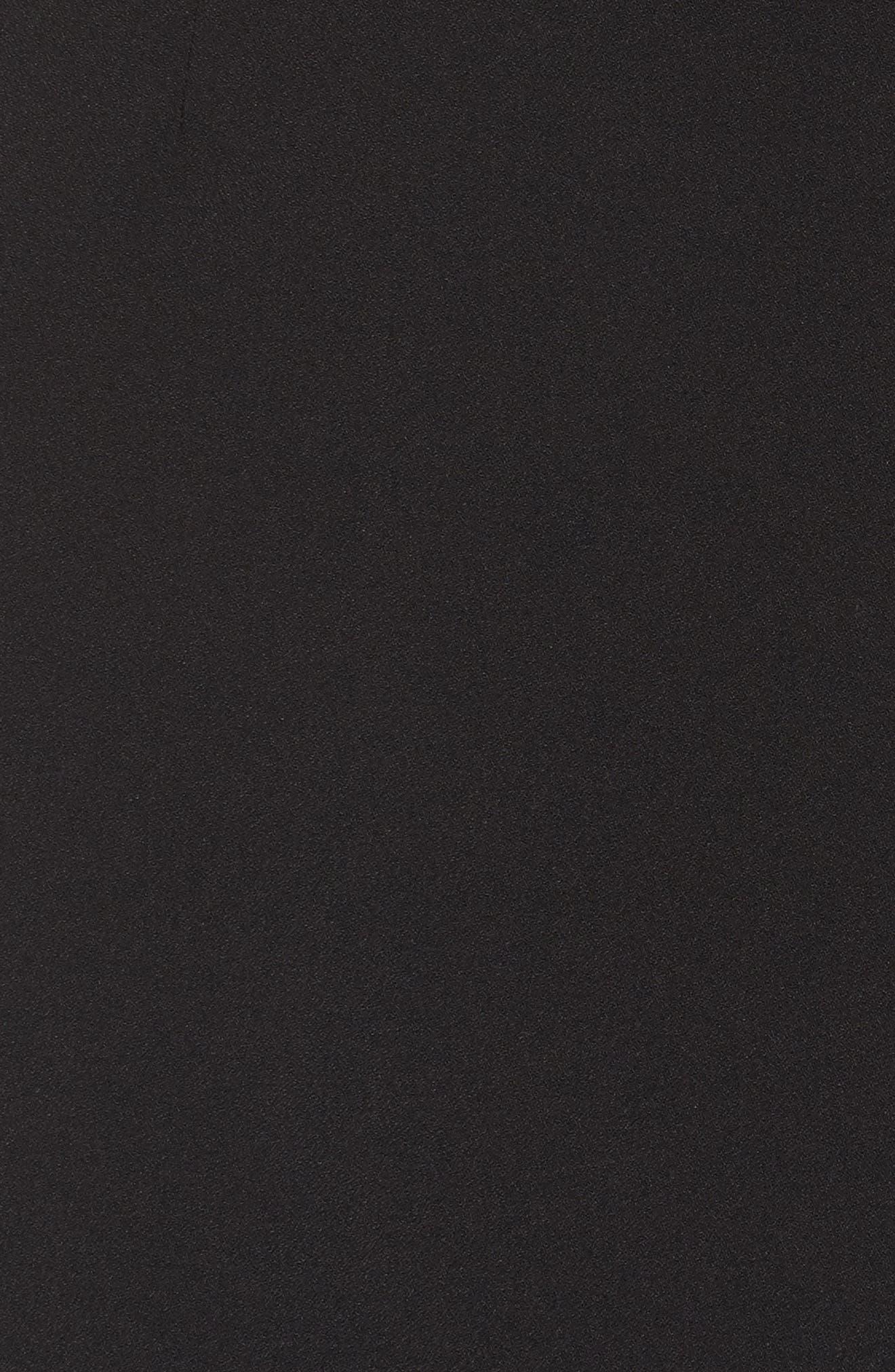 Cutout Midi Dress,                             Alternate thumbnail 5, color,                             Black