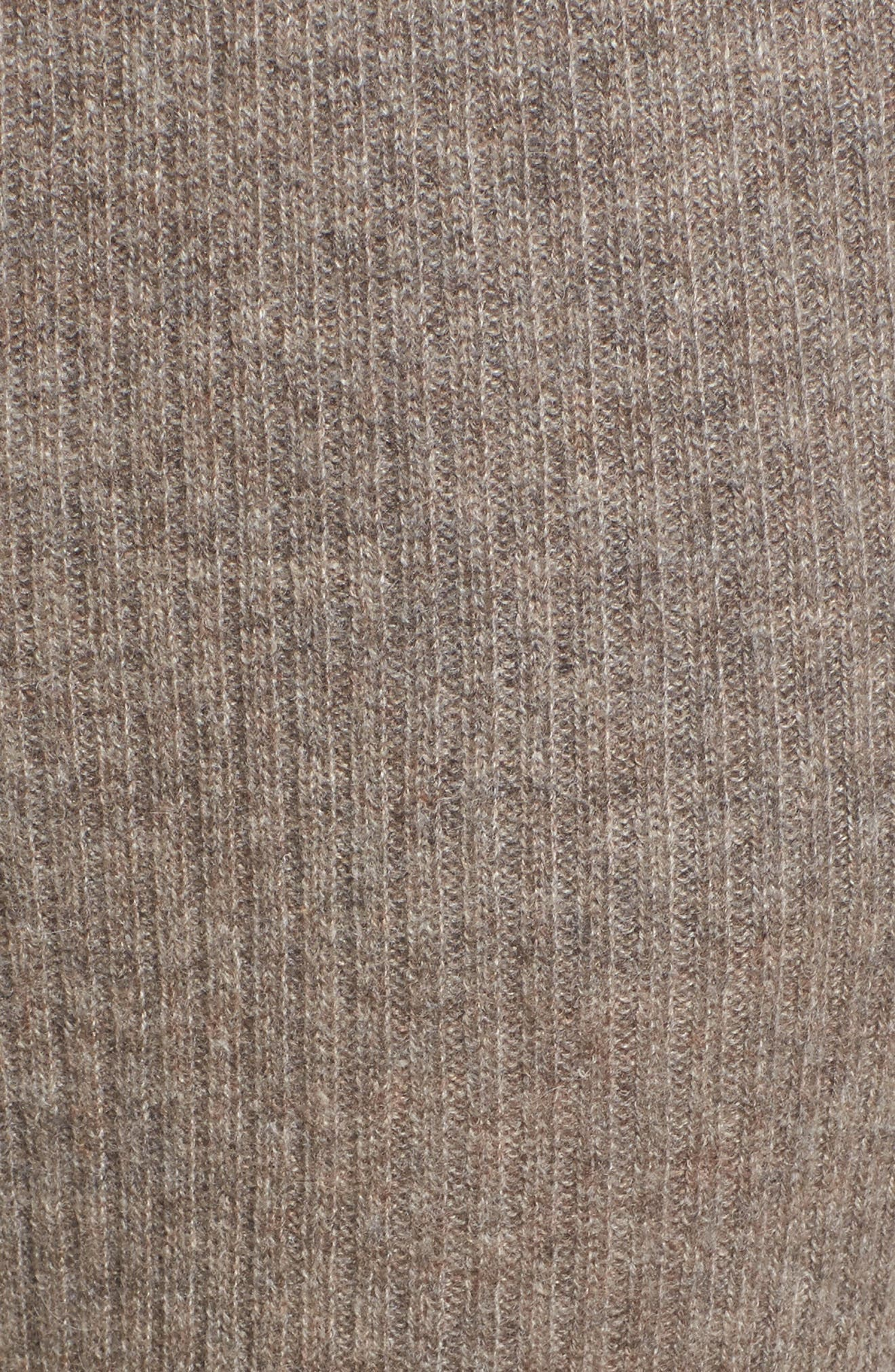 Ribbed Cashmere Leggings,                             Alternate thumbnail 6, color,                             Taupe Melange