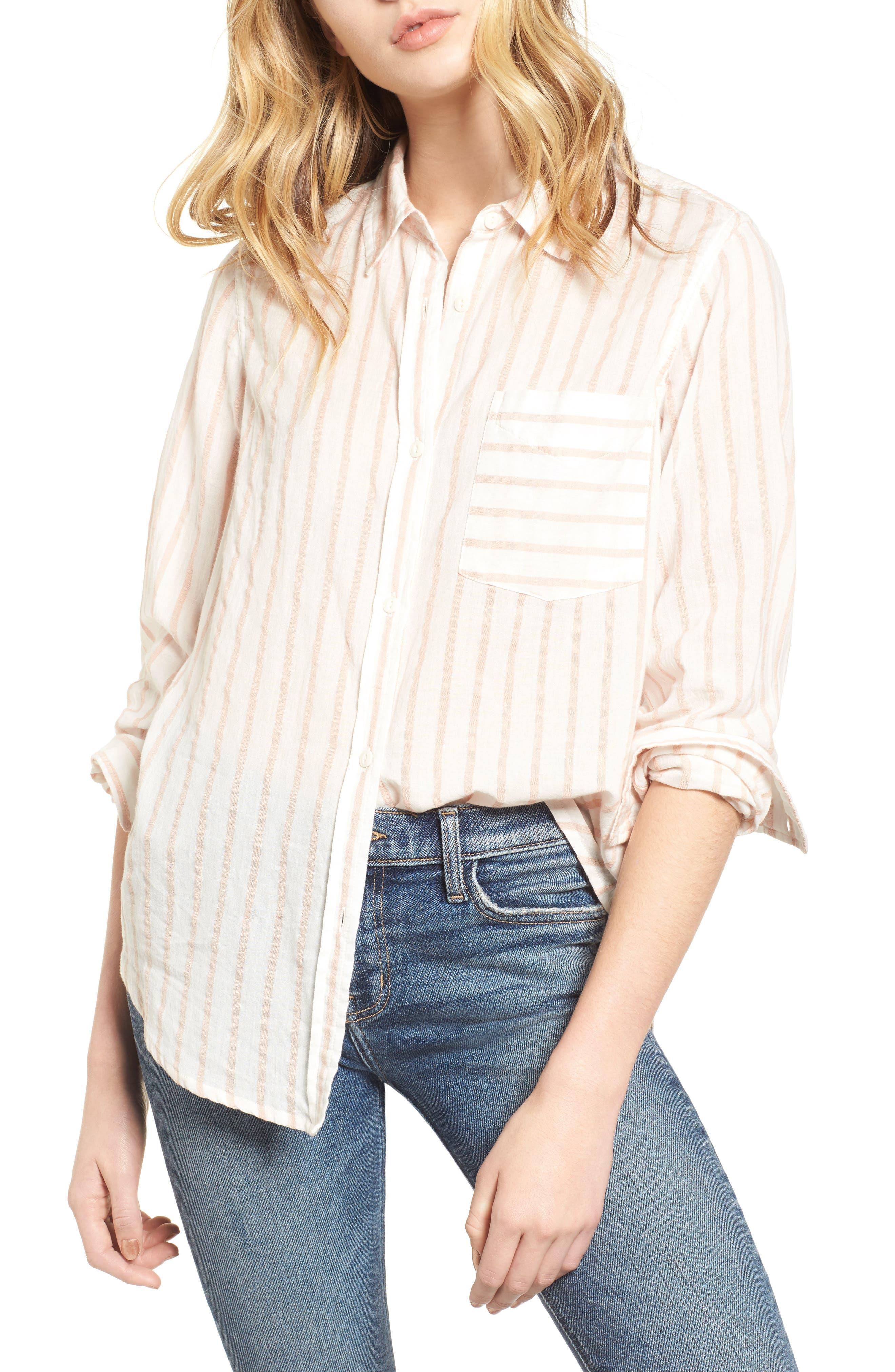 The Boyfriend Shirt,                             Main thumbnail 1, color,                             Gable Stripe