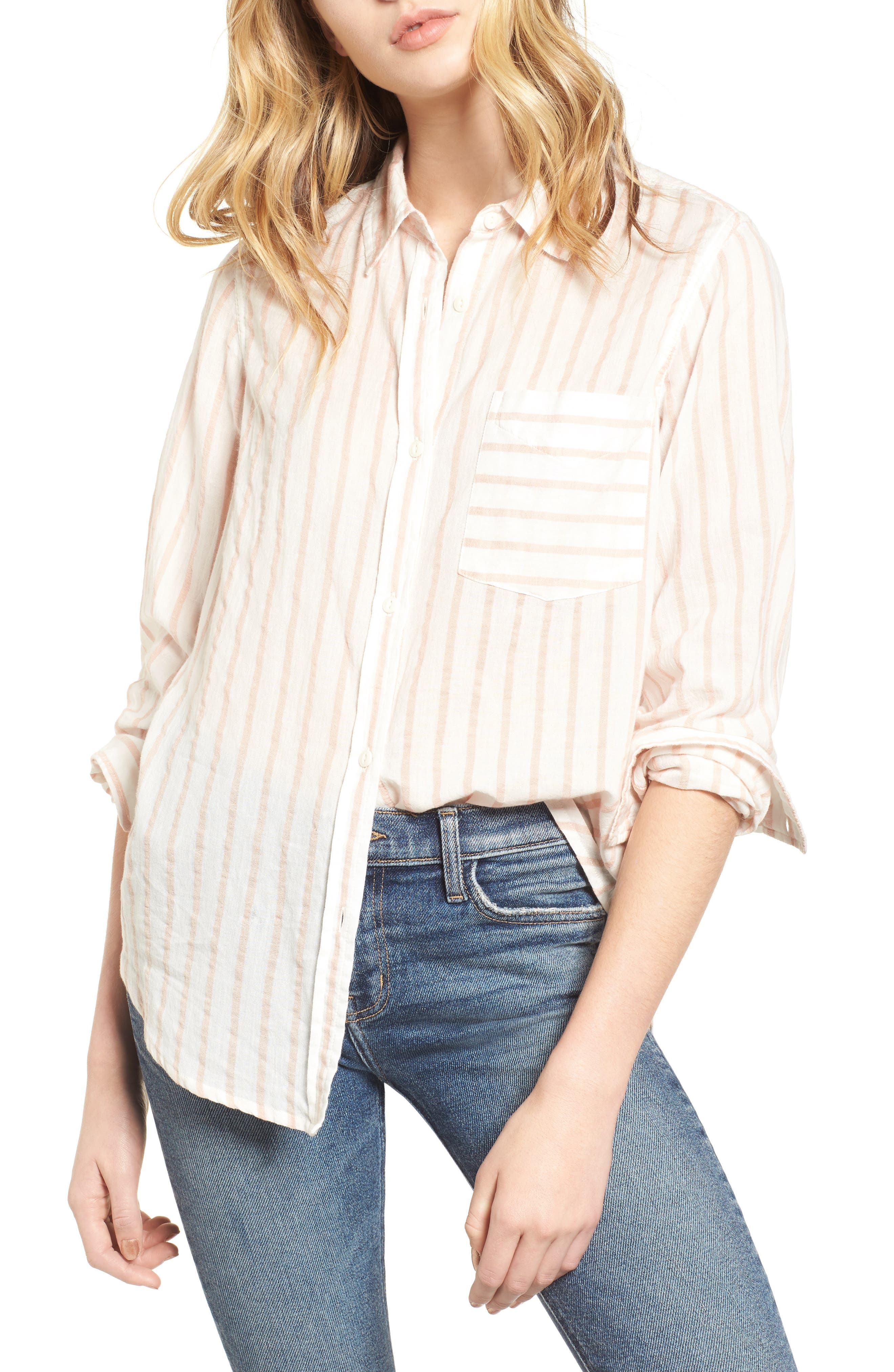 The Boyfriend Shirt,                         Main,                         color, Gable Stripe