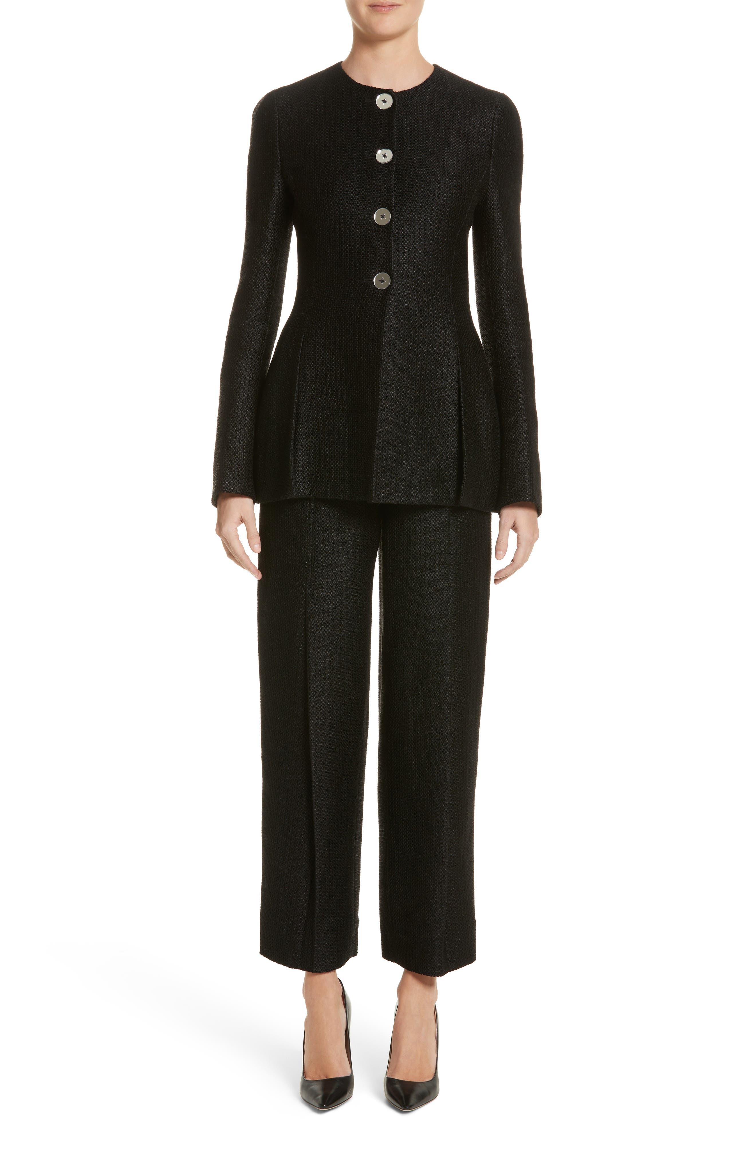 Tweed Pants,                             Alternate thumbnail 7, color,                             Black