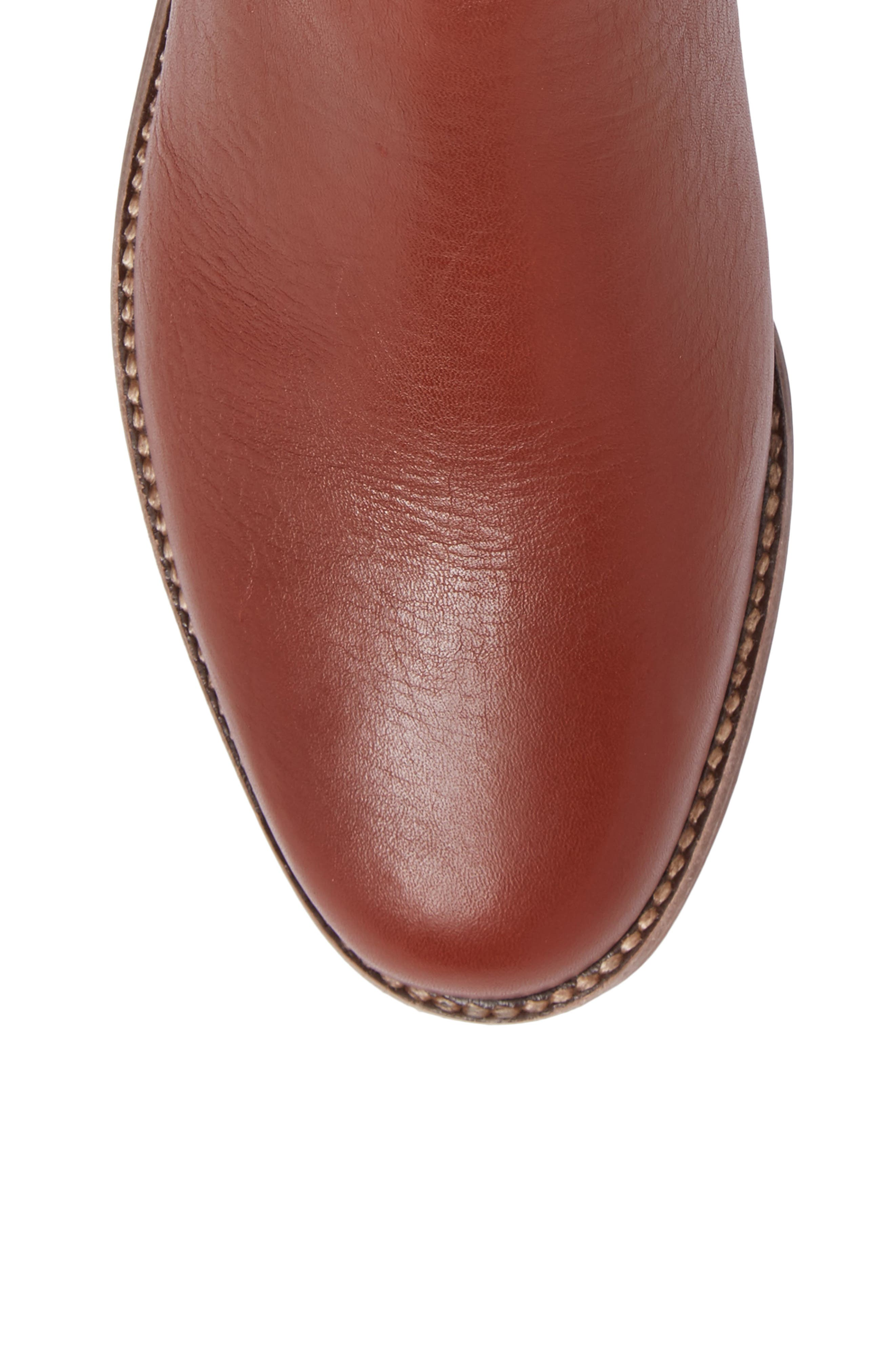 Ainsley Chelsea Boot,                             Alternate thumbnail 5, color,                             Vintage Redwood Leather