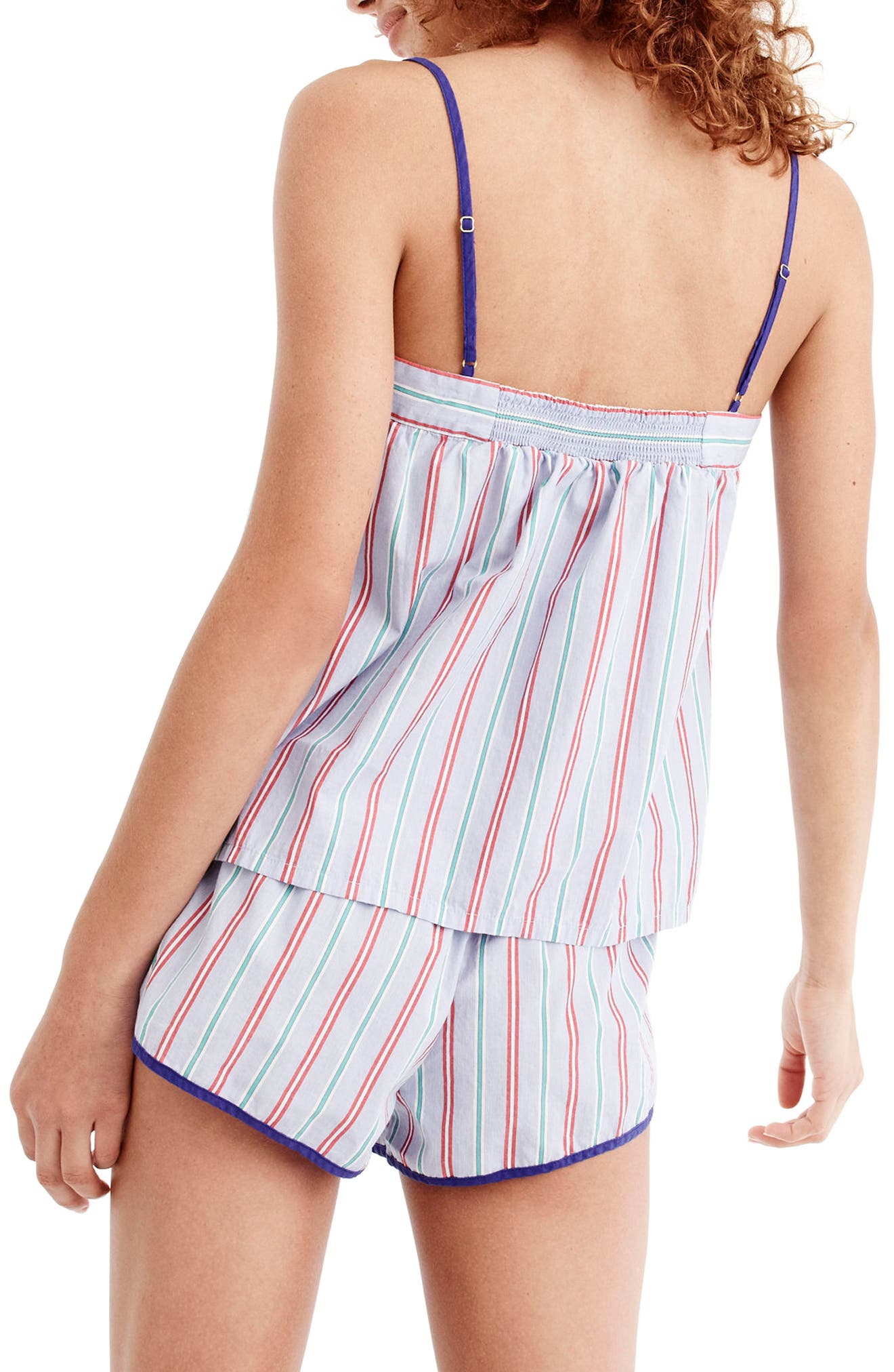 J.Crew Candy Stripe Short Pajamas,                             Alternate thumbnail 2, color,                             Holiday Stripe