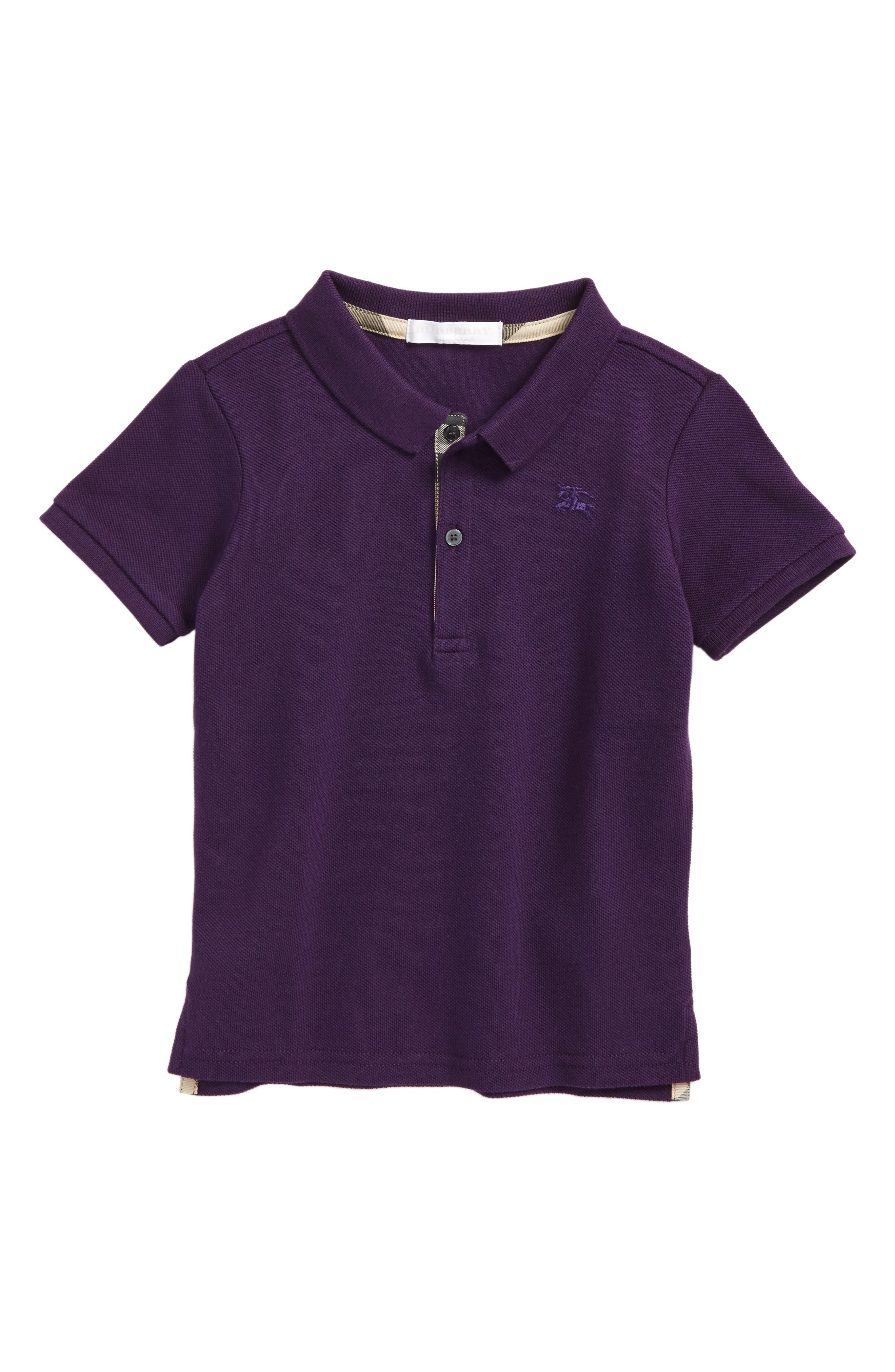 Palmer Piqué Polo,                             Main thumbnail 1, color,                             Purple Grape