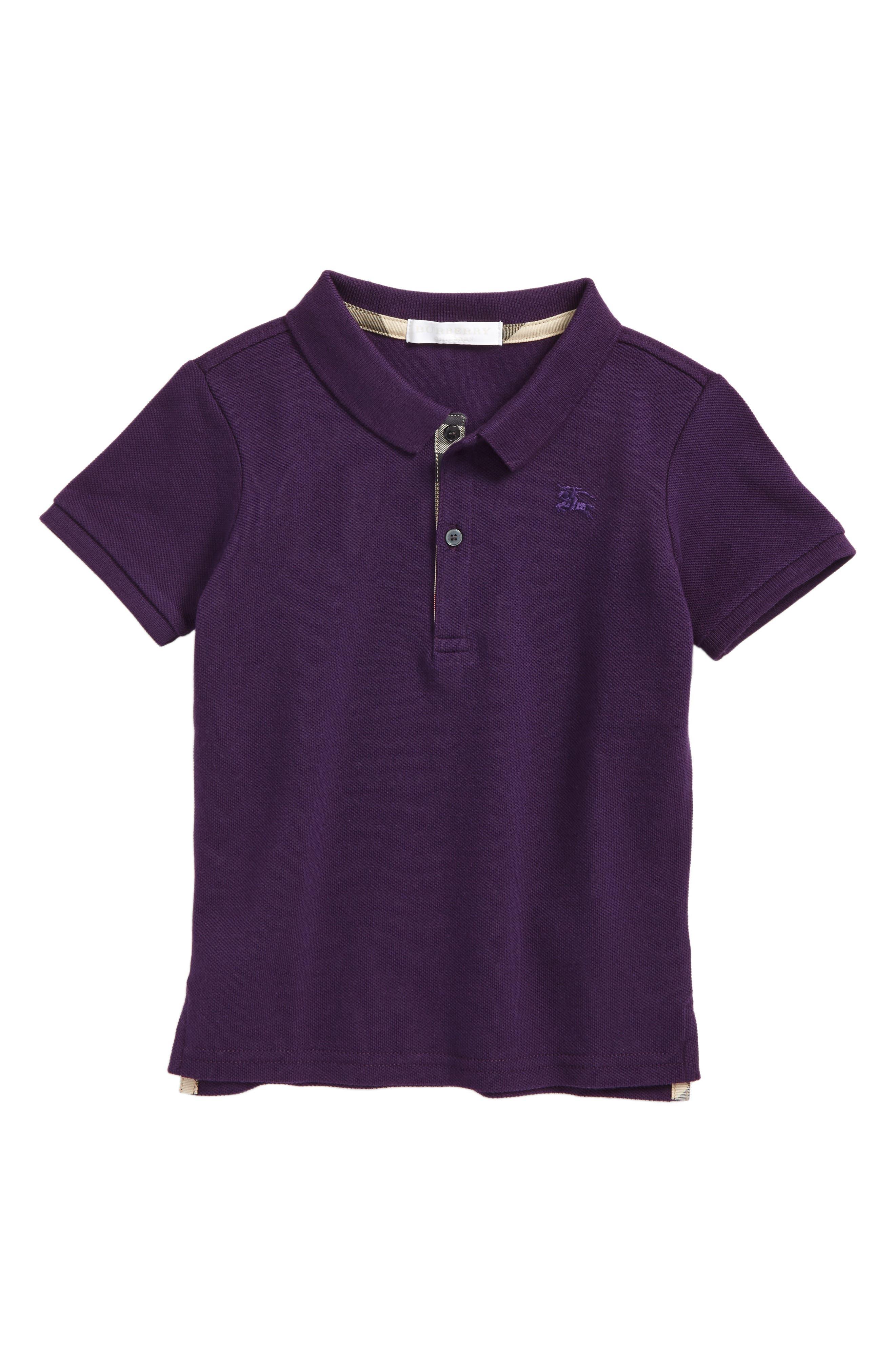 Palmer Piqué Polo,                         Main,                         color, Purple Grape