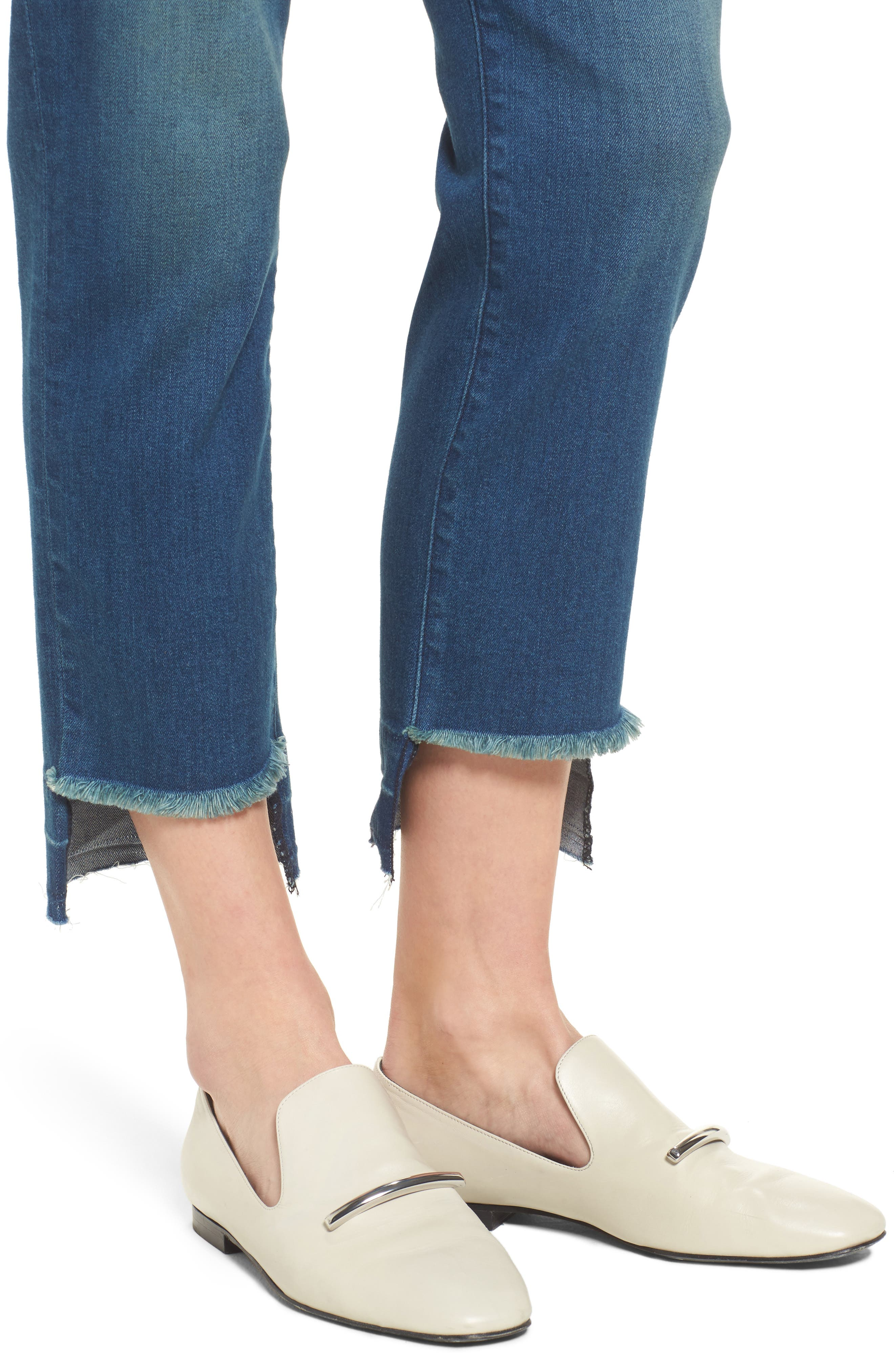 Alternate Image 4  - PARKER SMITH Pin-Up Straight Leg Crop Jeans (Island)