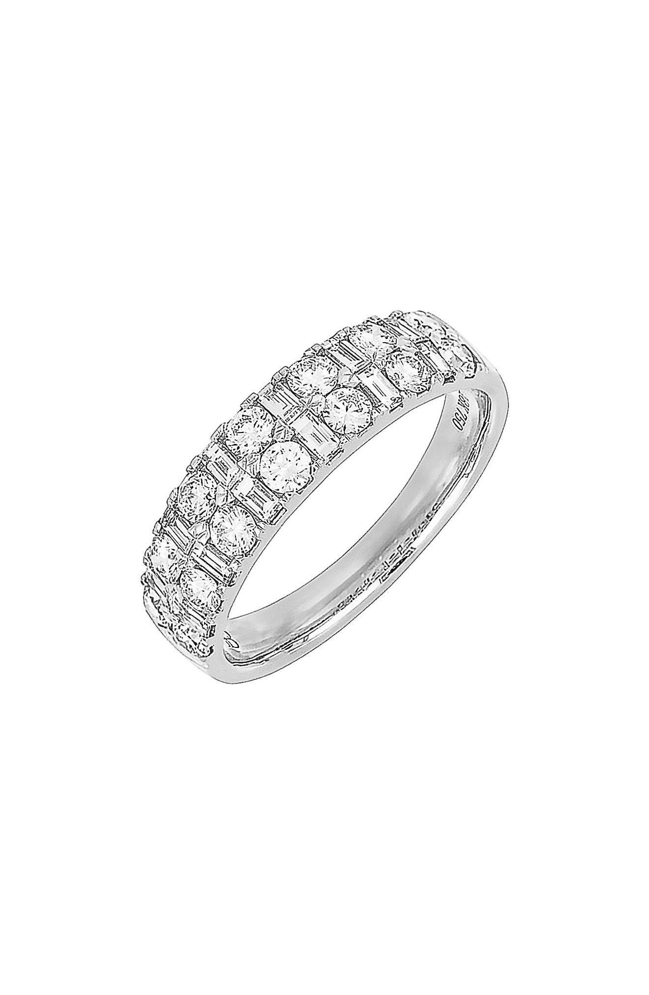 Kiera Multi Shape Diamond Ring,                             Main thumbnail 1, color,                             White Gold