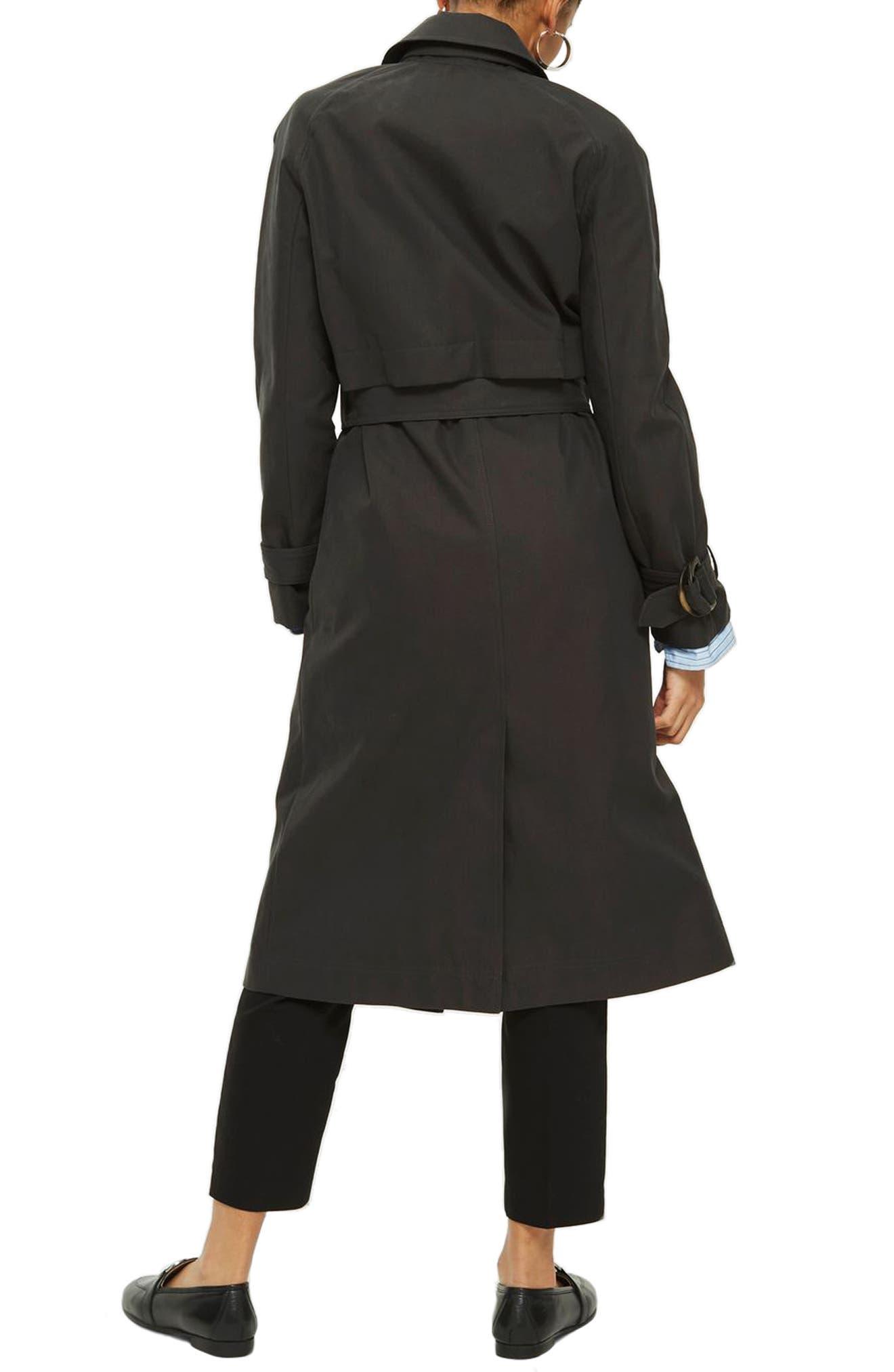 Alternate Image 2  - Topshop Cotton Trench Coat