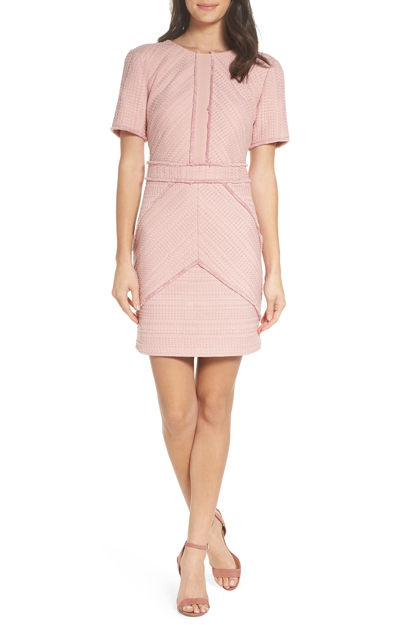 Tessa Sheath Dress,                         Main,                         color, Blush