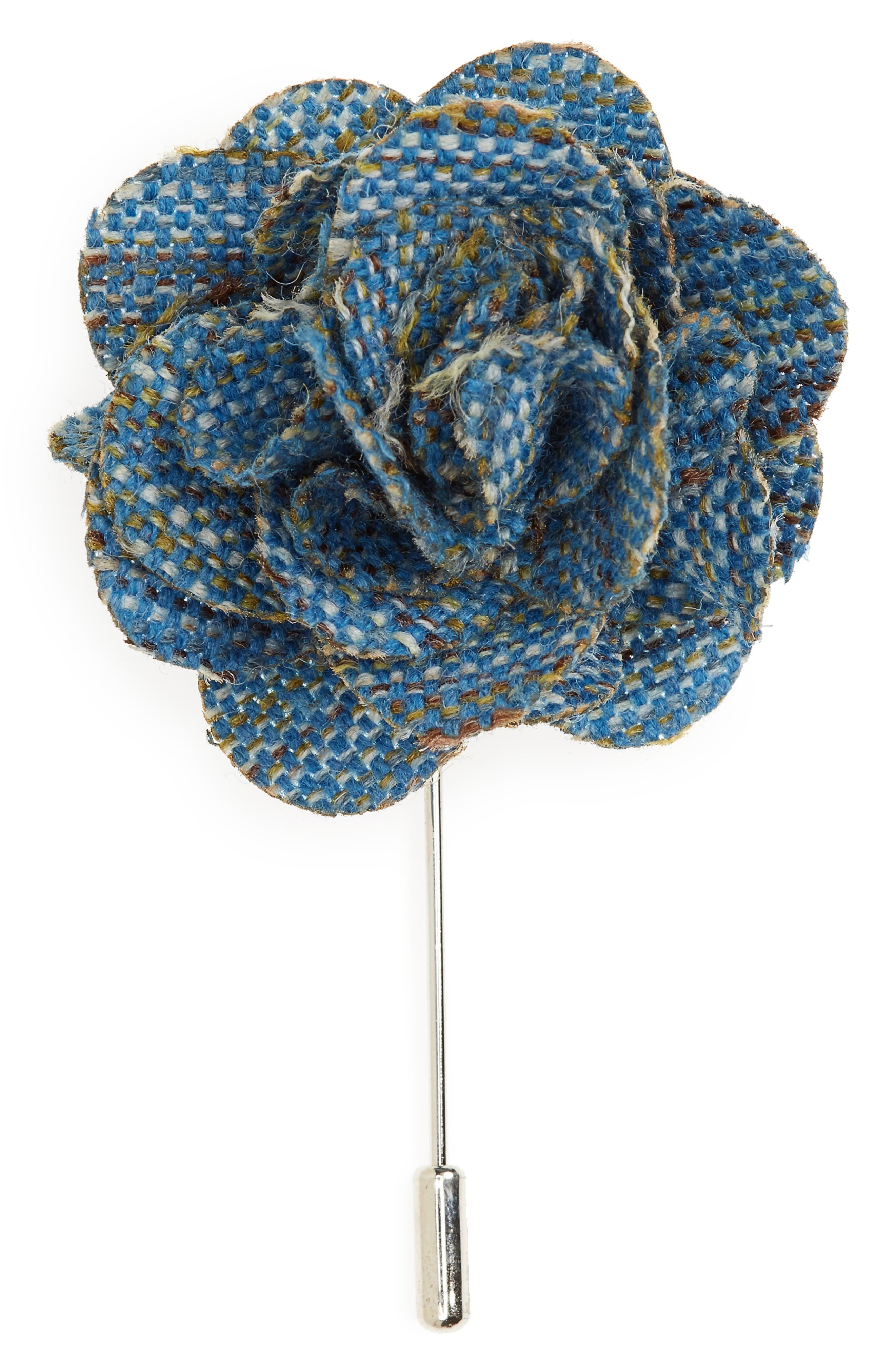 Alternate Image 1 Selected - The Tie Bar Buff Silk Lapel Flower