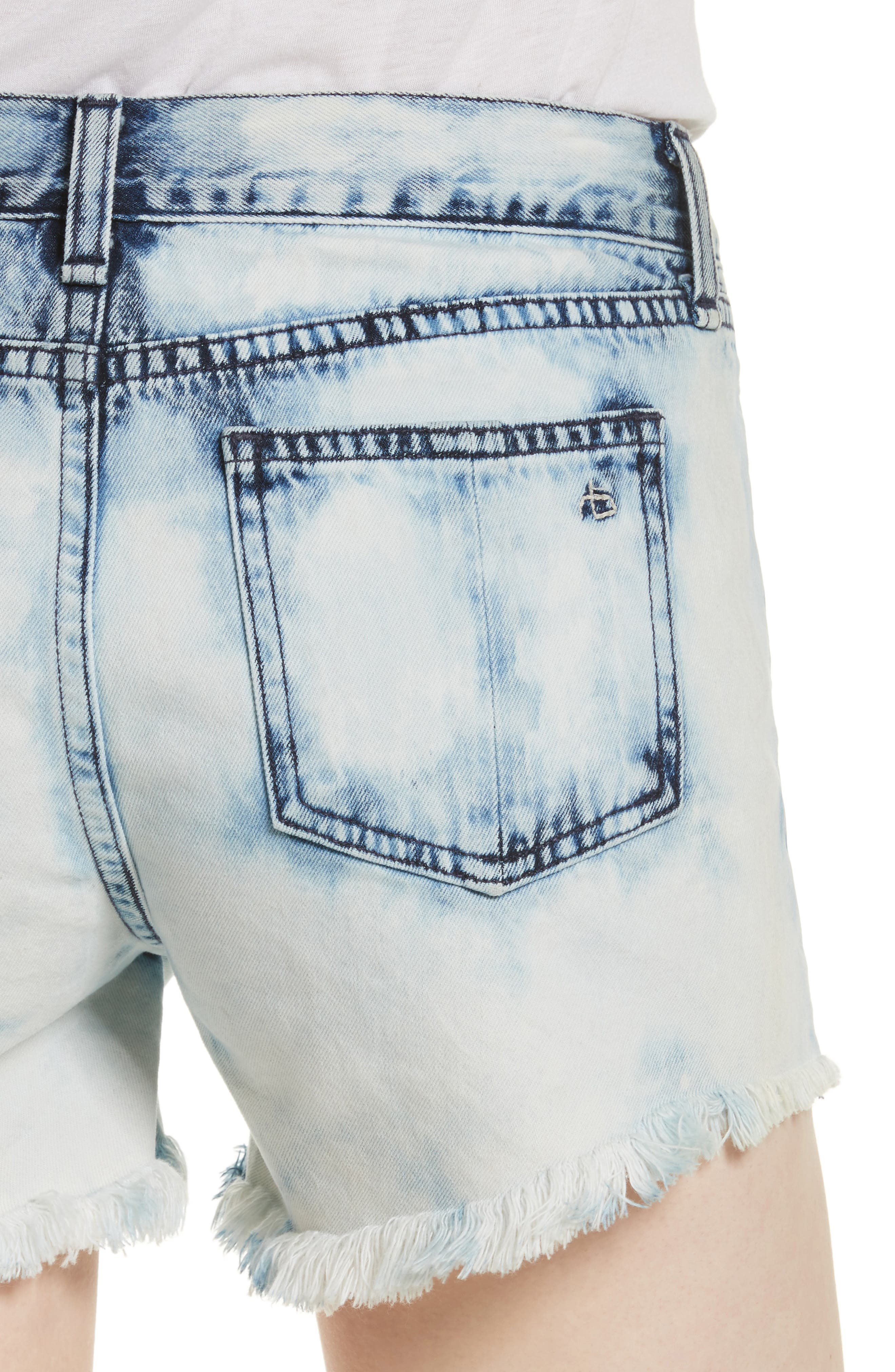 Alternate Image 4  - rag & bone/JEAN Cutoff Denim Shorts (Bleach)
