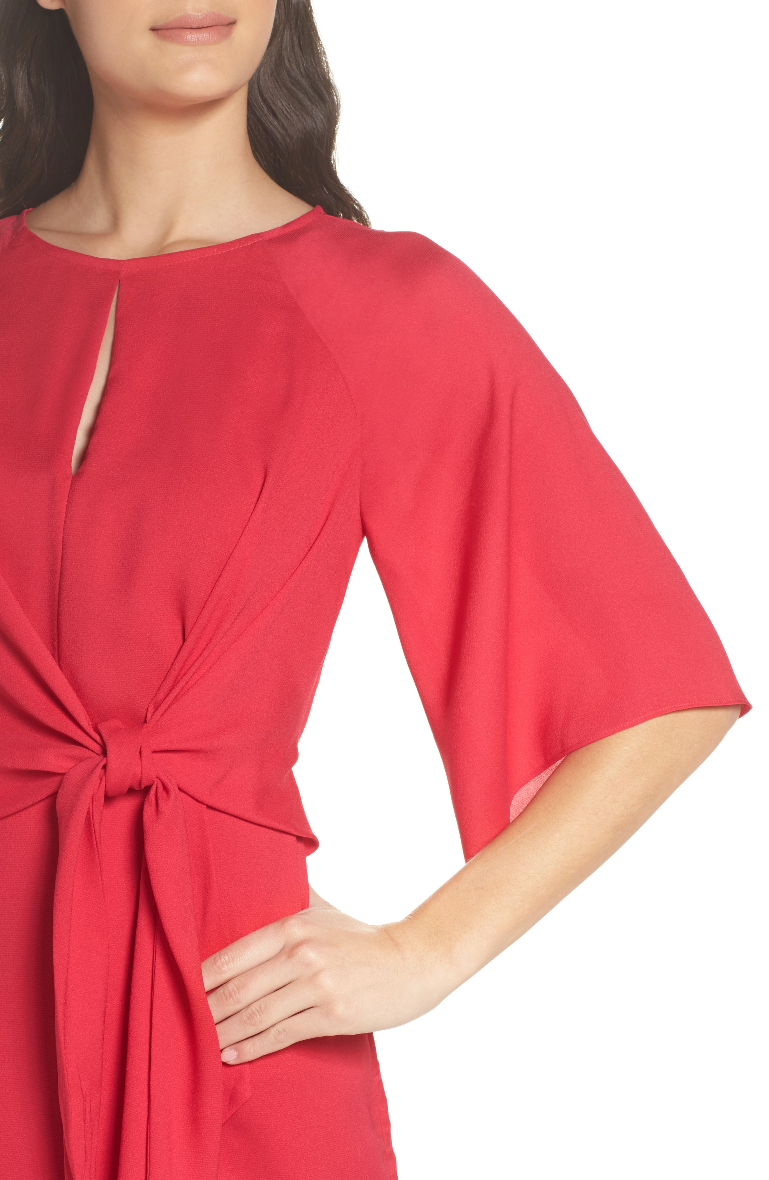 Abbey Faux Wrap Dress,                             Alternate thumbnail 4, color,                             Fuchsia