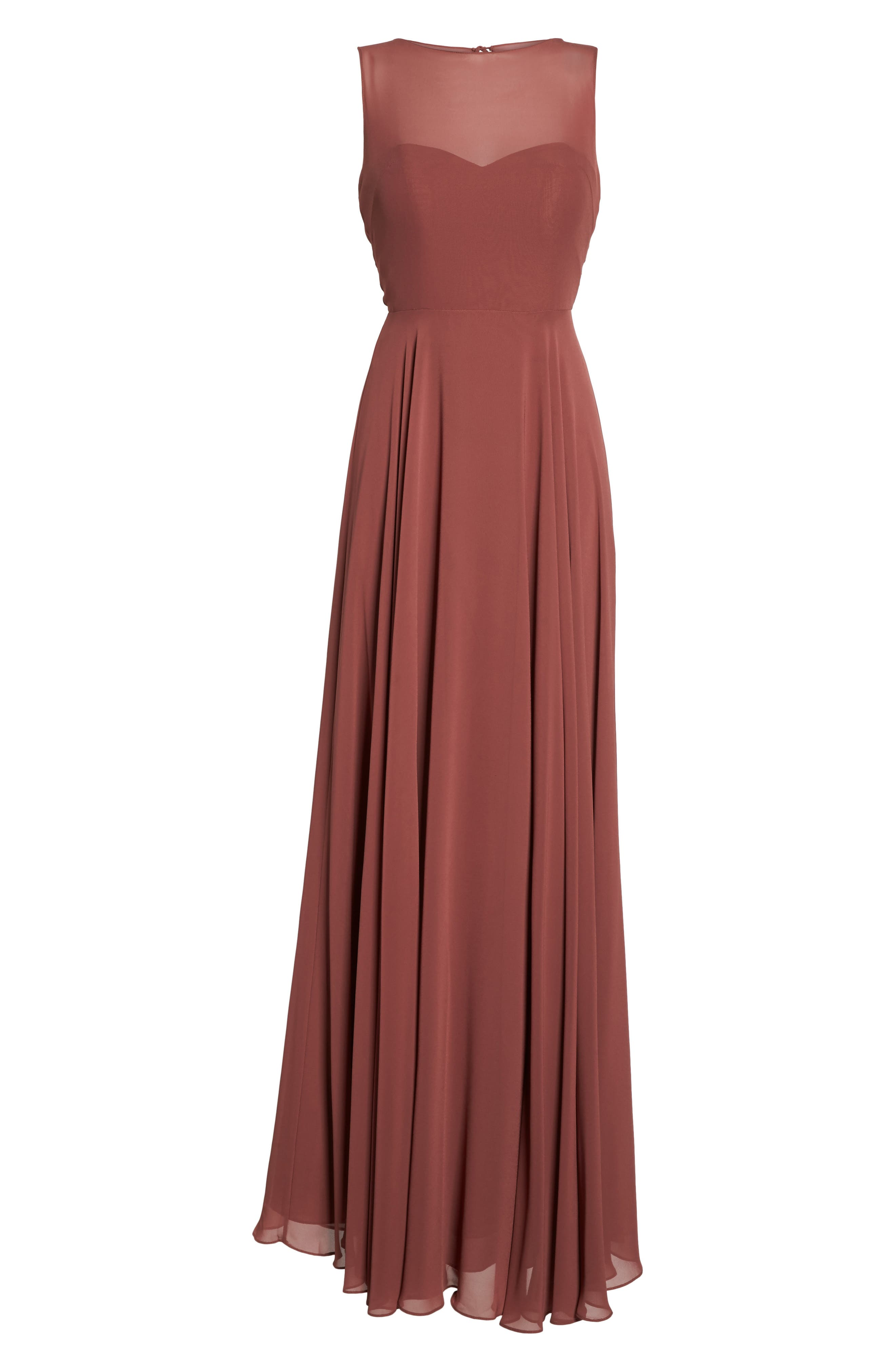 Alternate Image 6  - Jenny Yoo Elizabeth Chiffon Gown