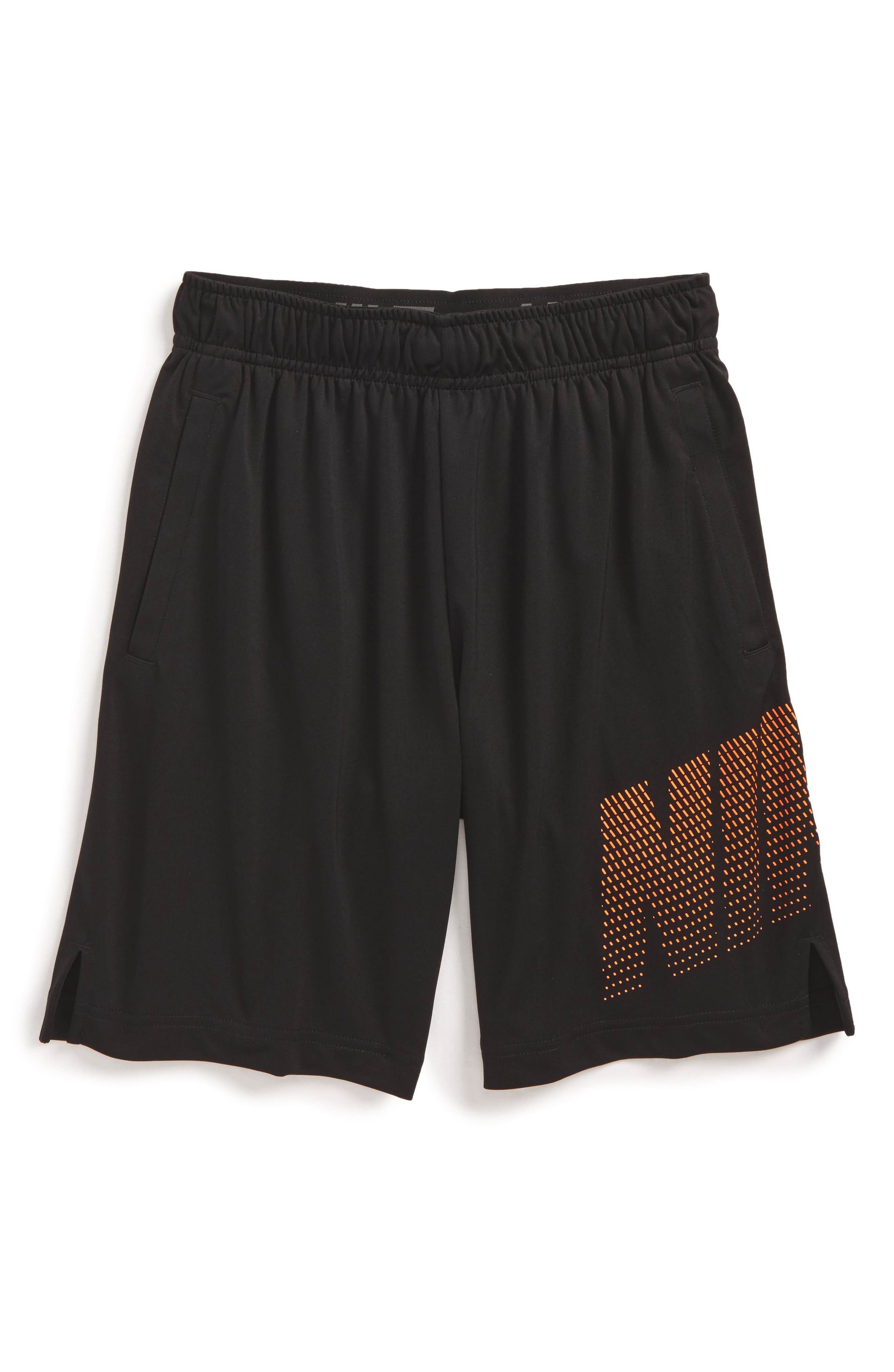 Dry Logo Graphic Training Shorts,                         Main,                         color, Black