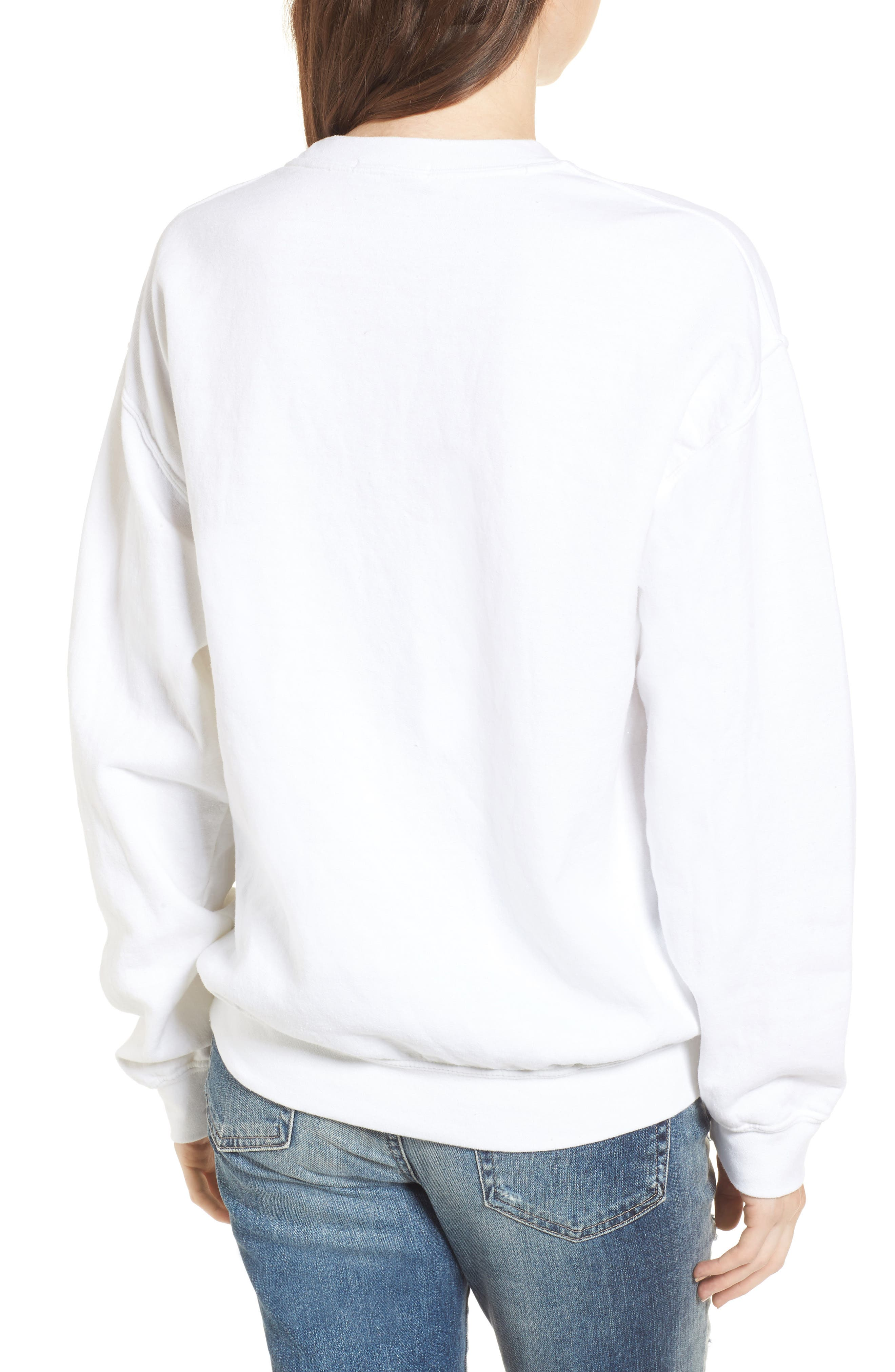 Let's Get Lit Sweatshirt,                             Alternate thumbnail 2, color,                             White