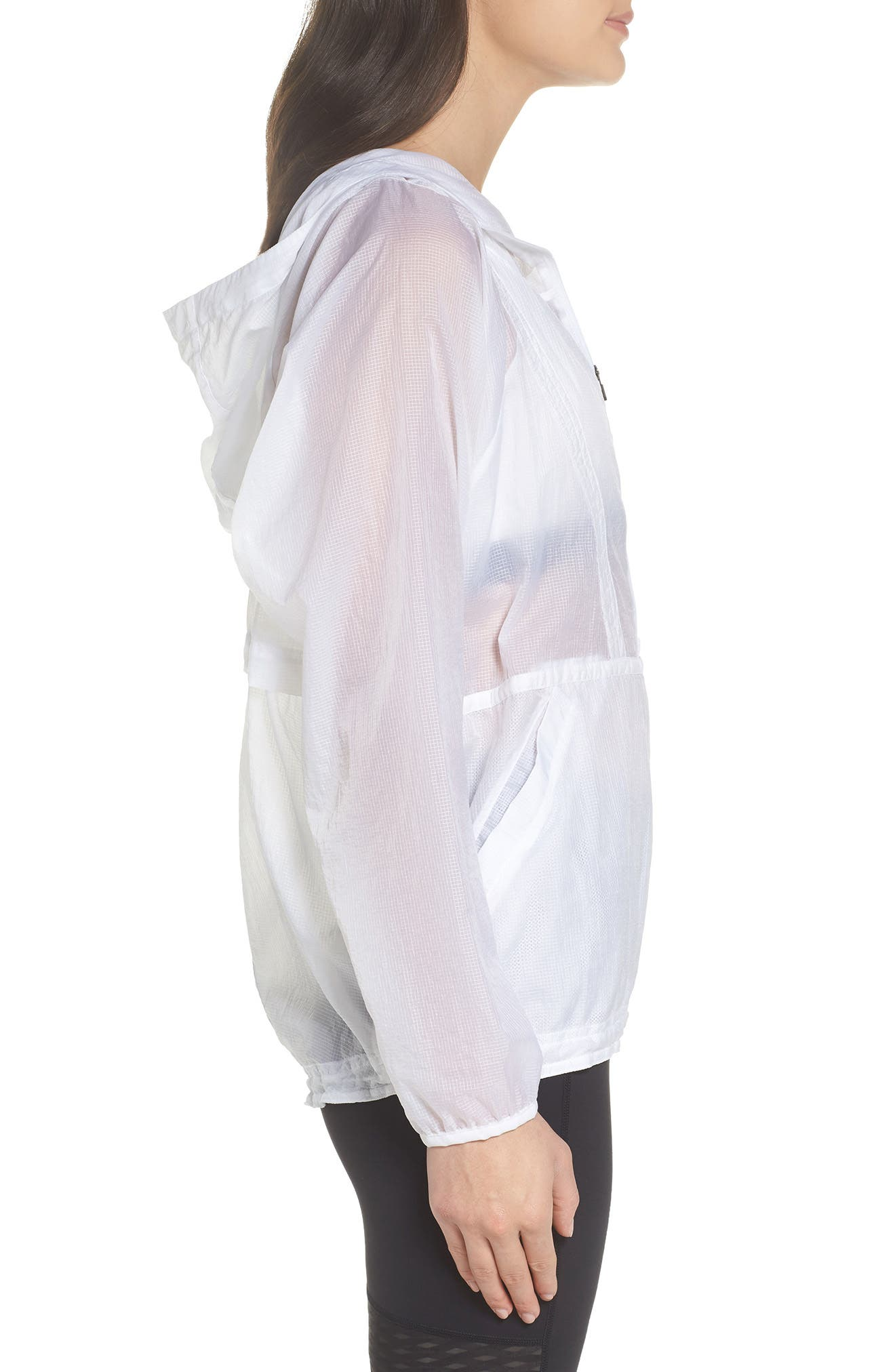 Packable Parachute Anorak,                             Alternate thumbnail 3, color,                             White
