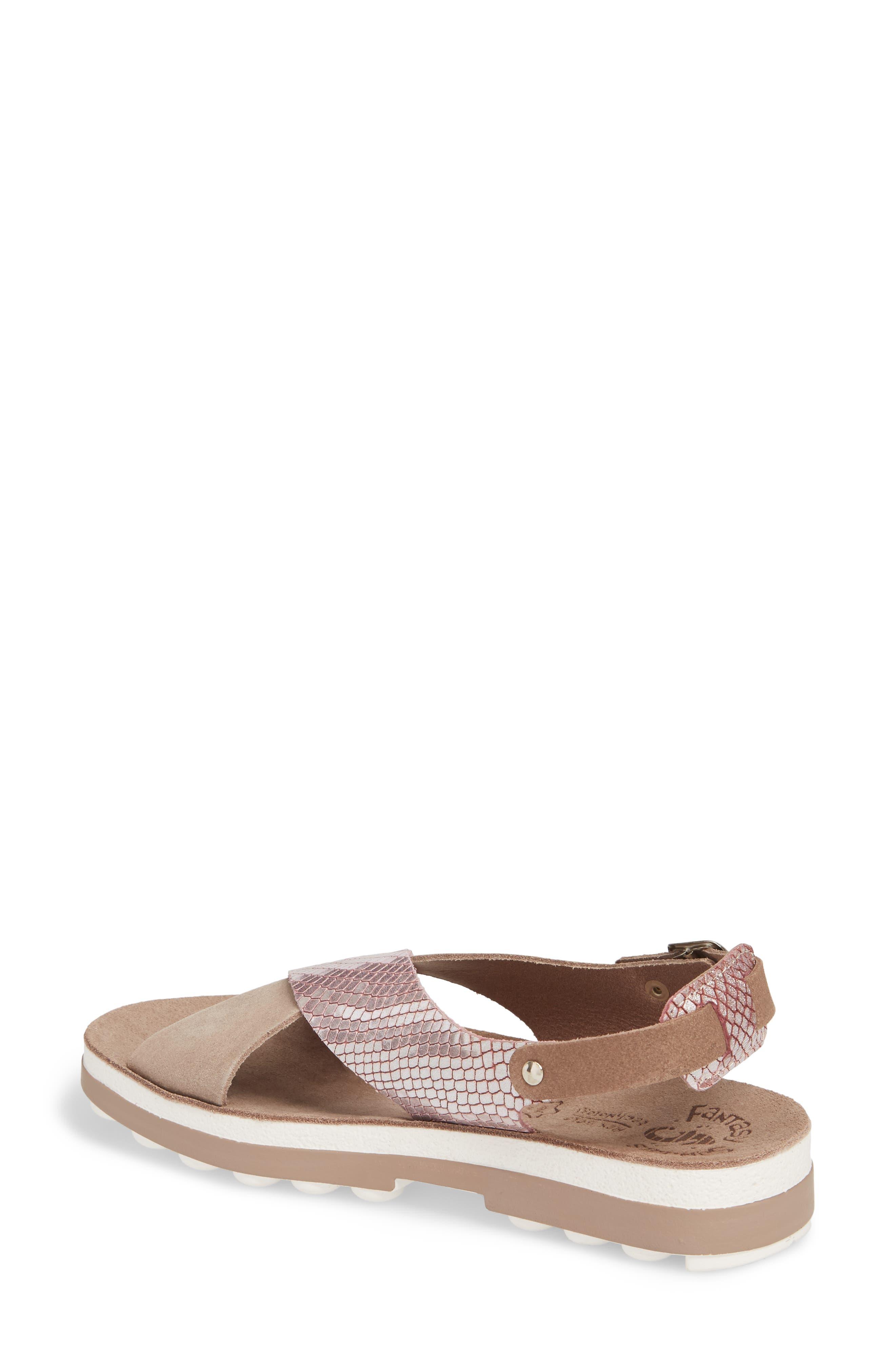 Izabella Fantasy Platform Sandal,                             Alternate thumbnail 2, color,                             Coffee Snake Leather
