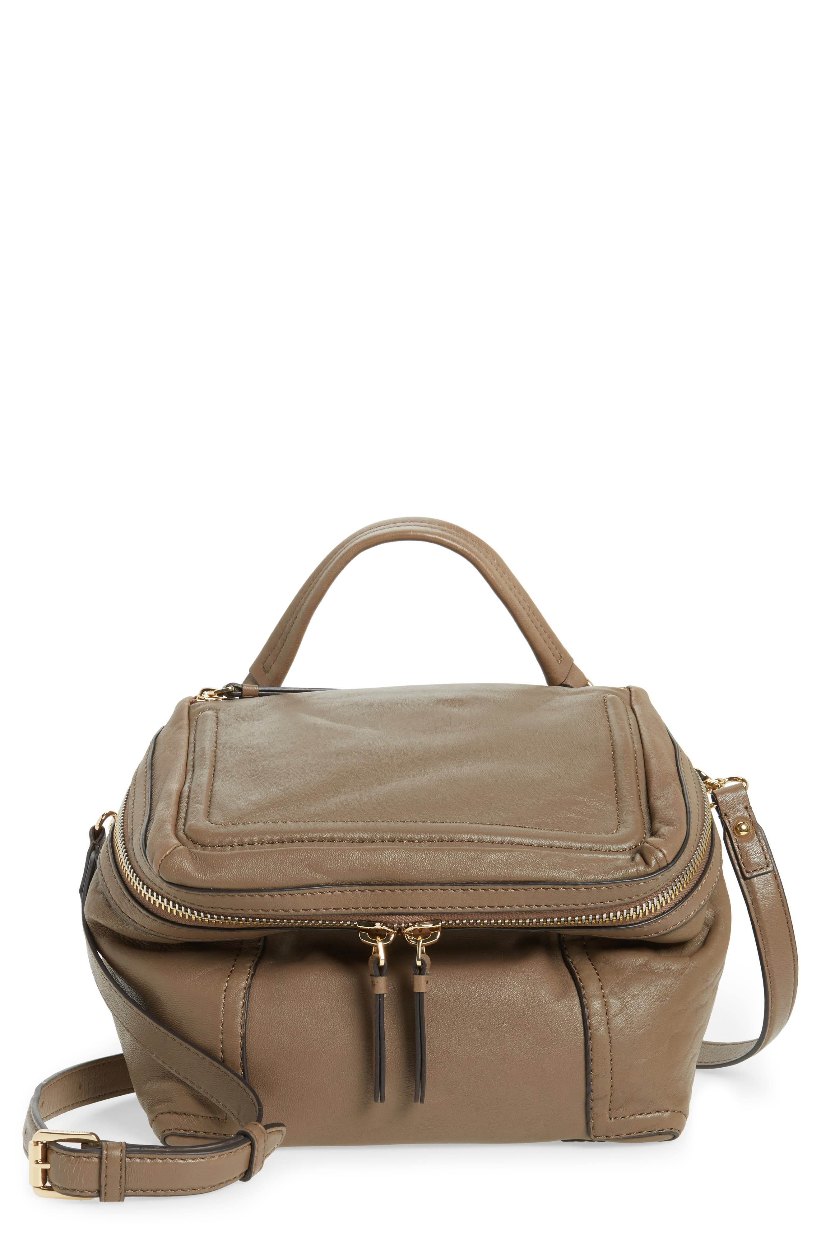 Alternate Image 1 Selected - Vince Camuto Medium Patch Leather Crossbody Bag
