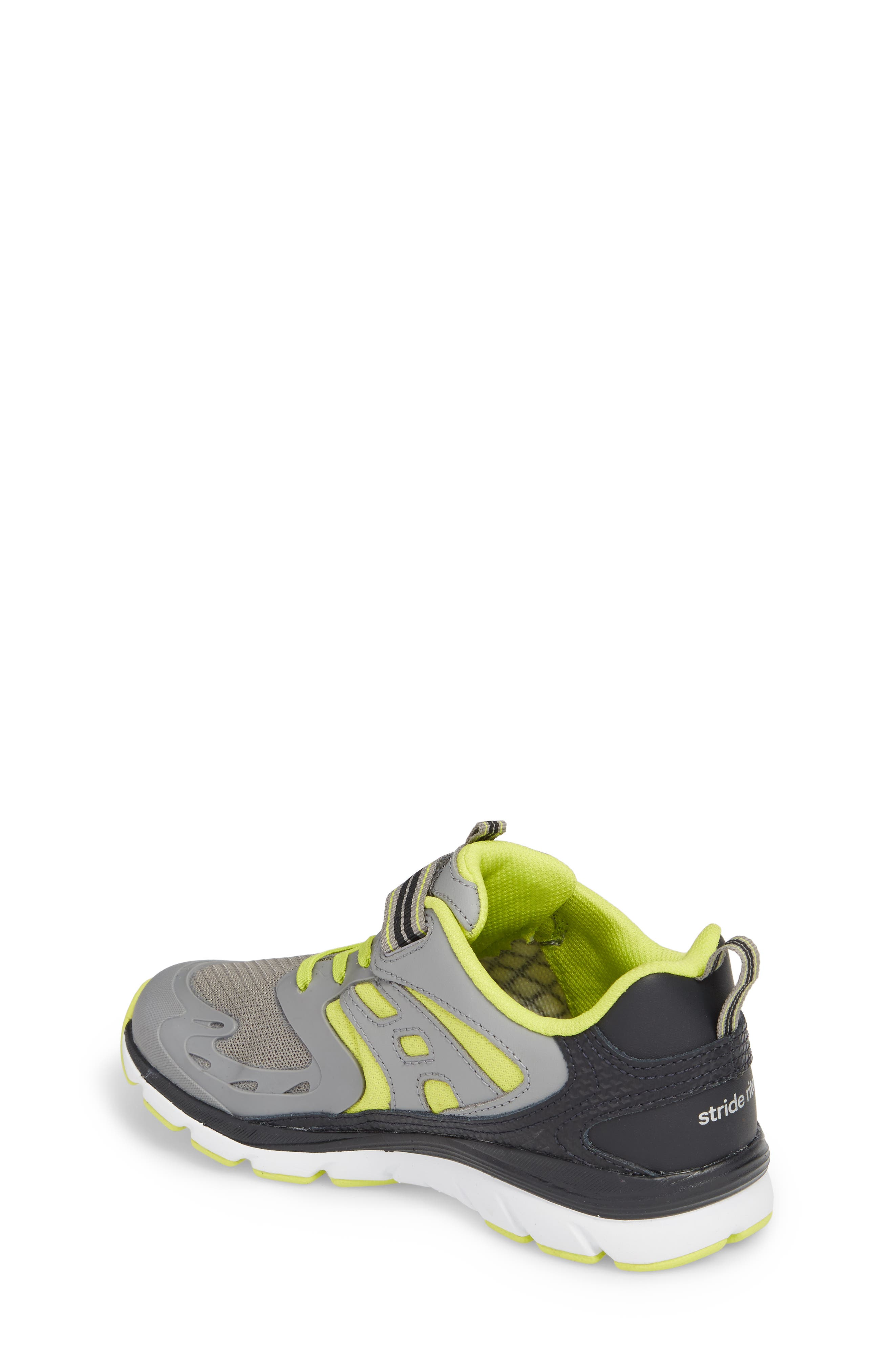 Made 2 Play Breccen Sneaker,                             Alternate thumbnail 2, color,                             Grey/ Lime Leather/ Textile