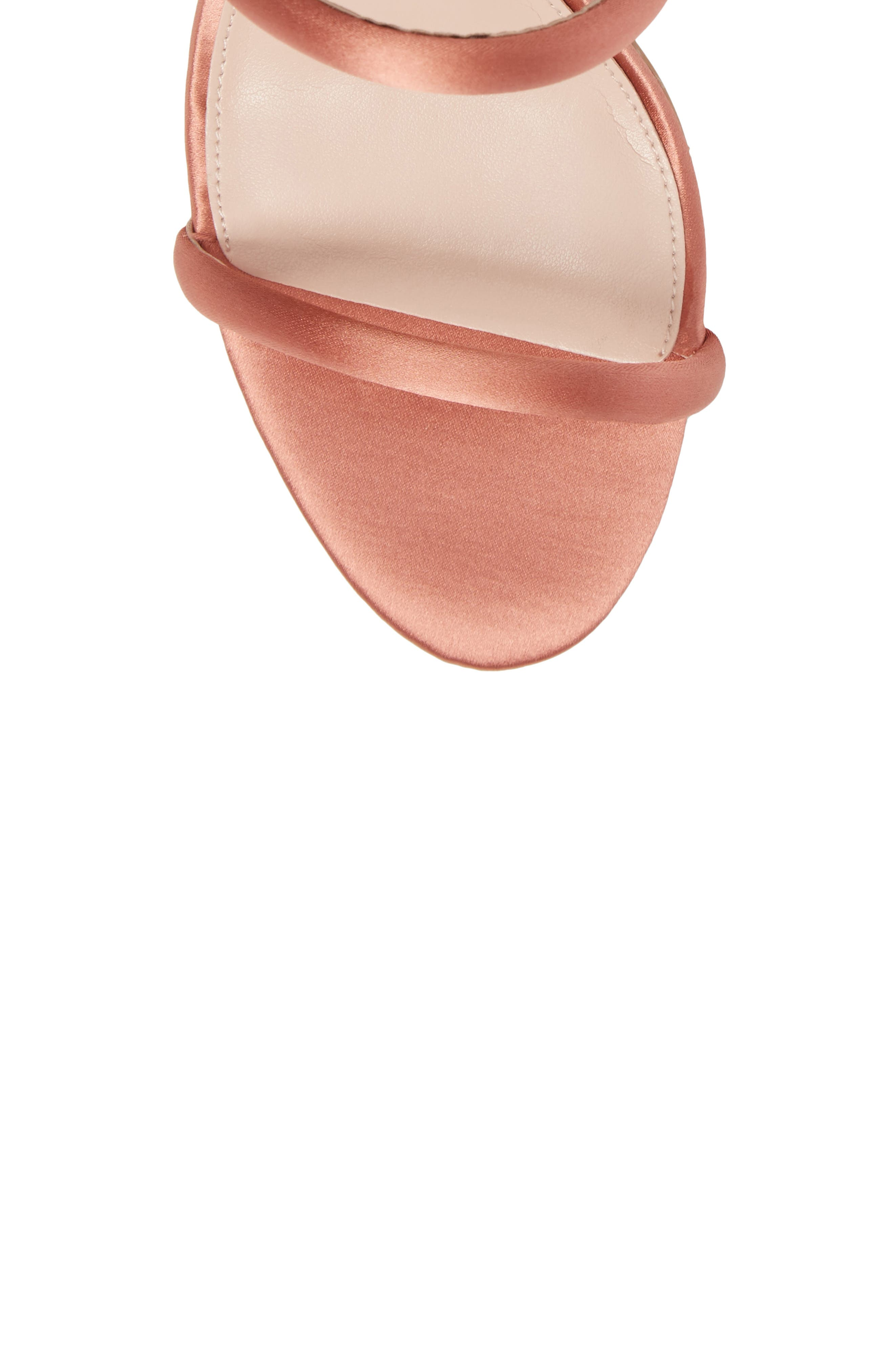Joia Ankle Wrap Sandal,                             Alternate thumbnail 5, color,                             Dusty Rose Fabric