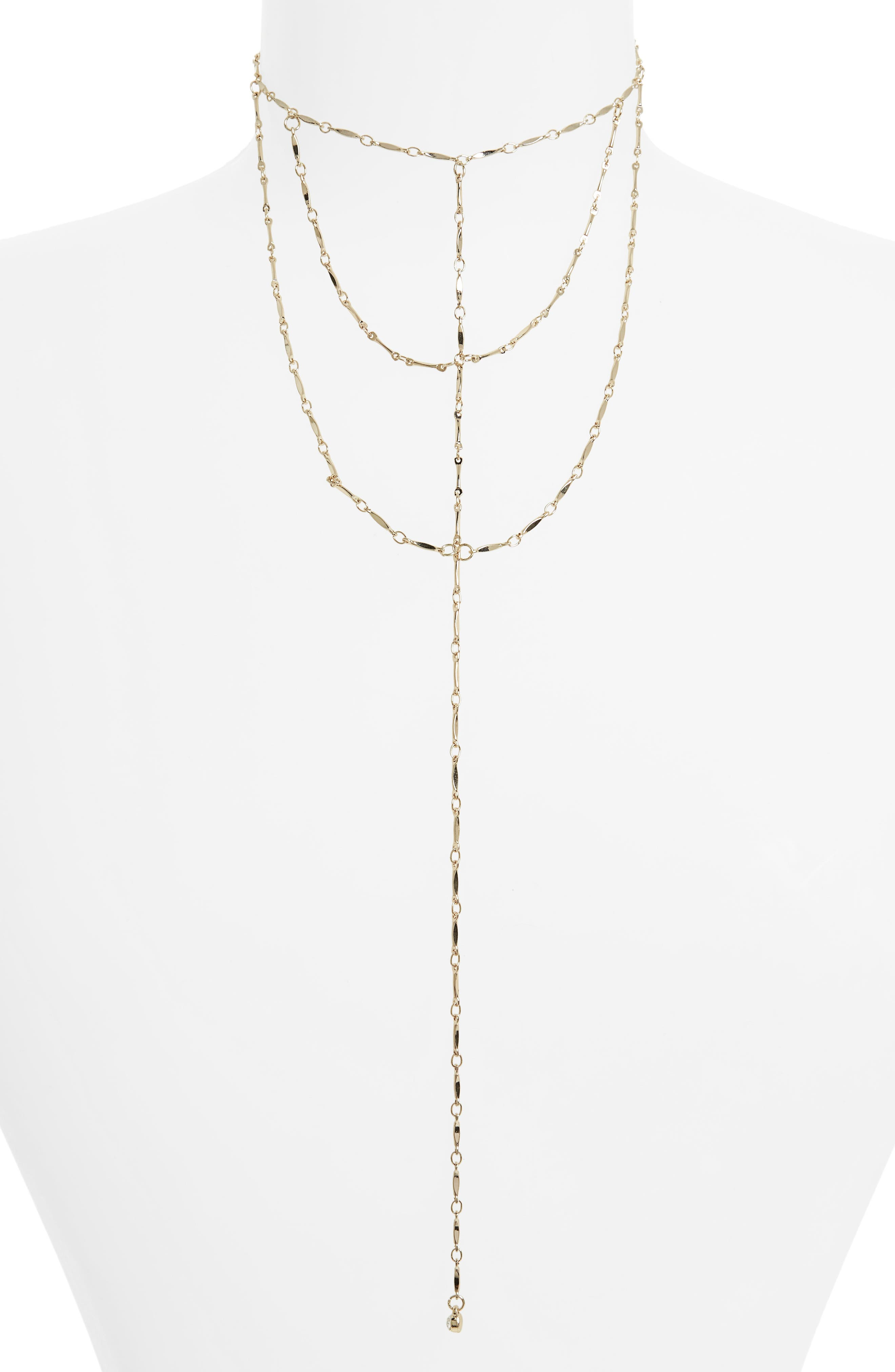 Alternate Image 1 Selected - Topshop Layered Lariat Necklace