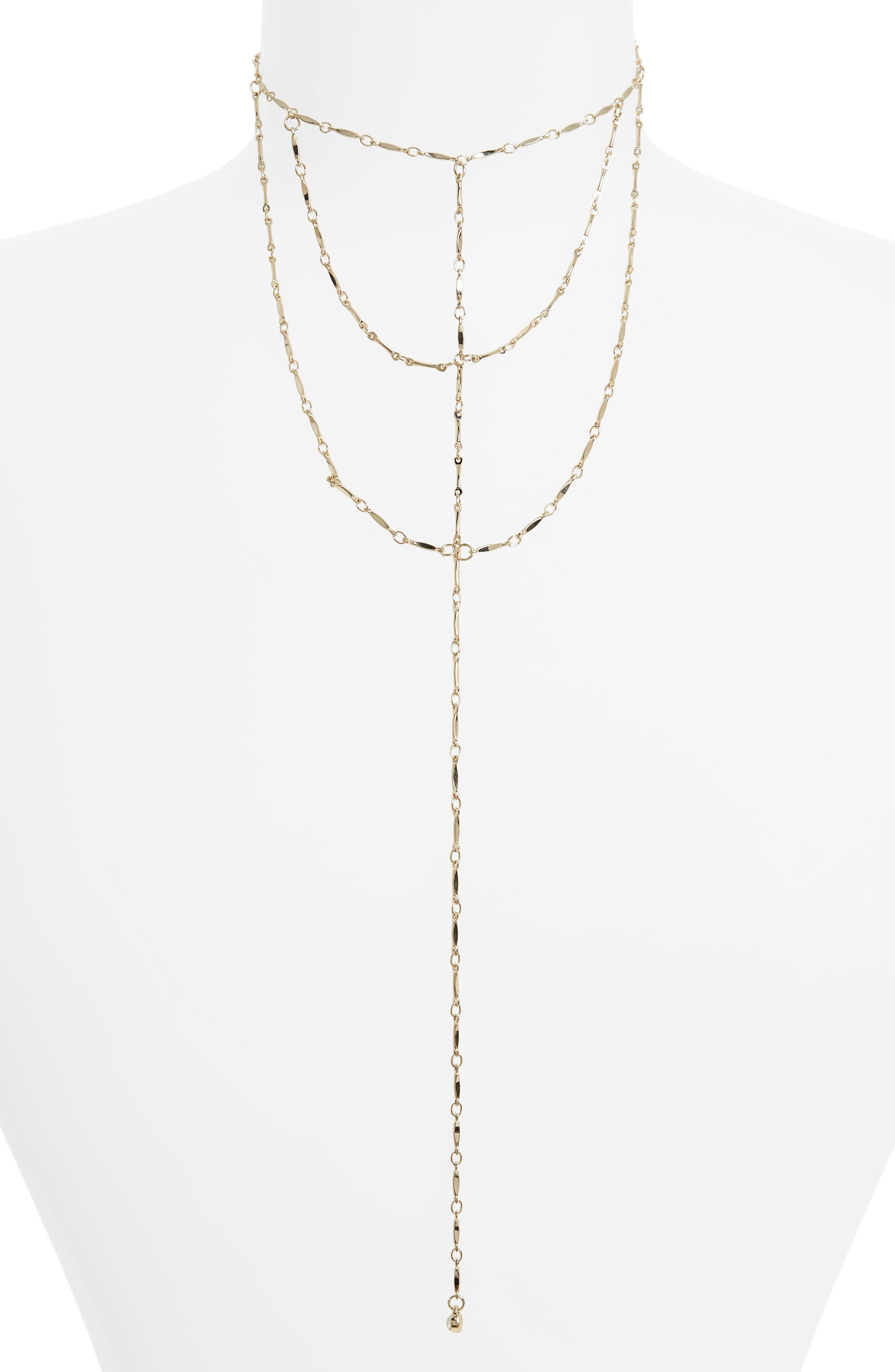 Main Image - Topshop Layered Lariat Necklace