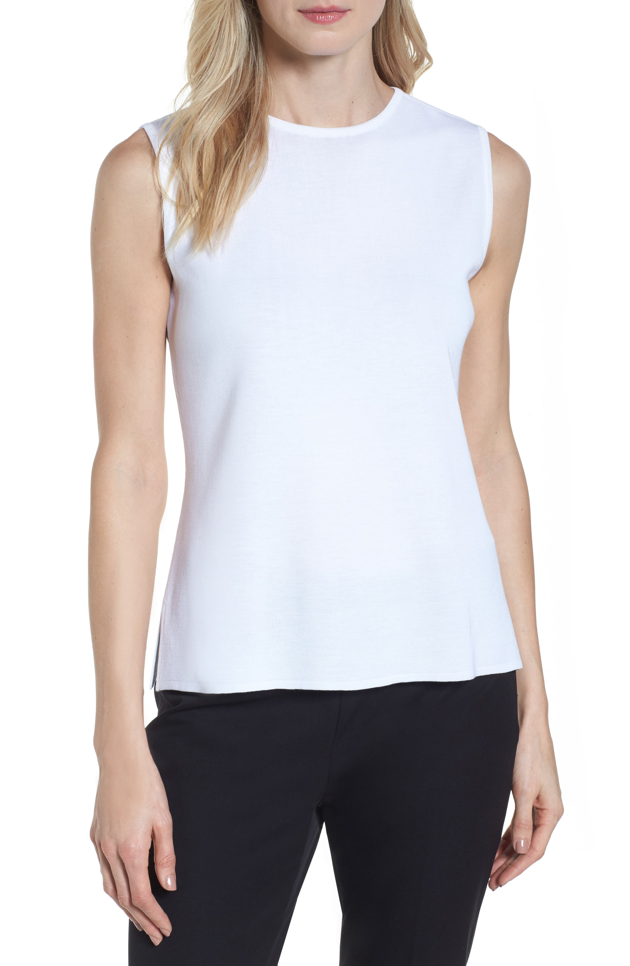 Alternate Image 1 Selected - Ming Wang Jewel Neck Knit Tank