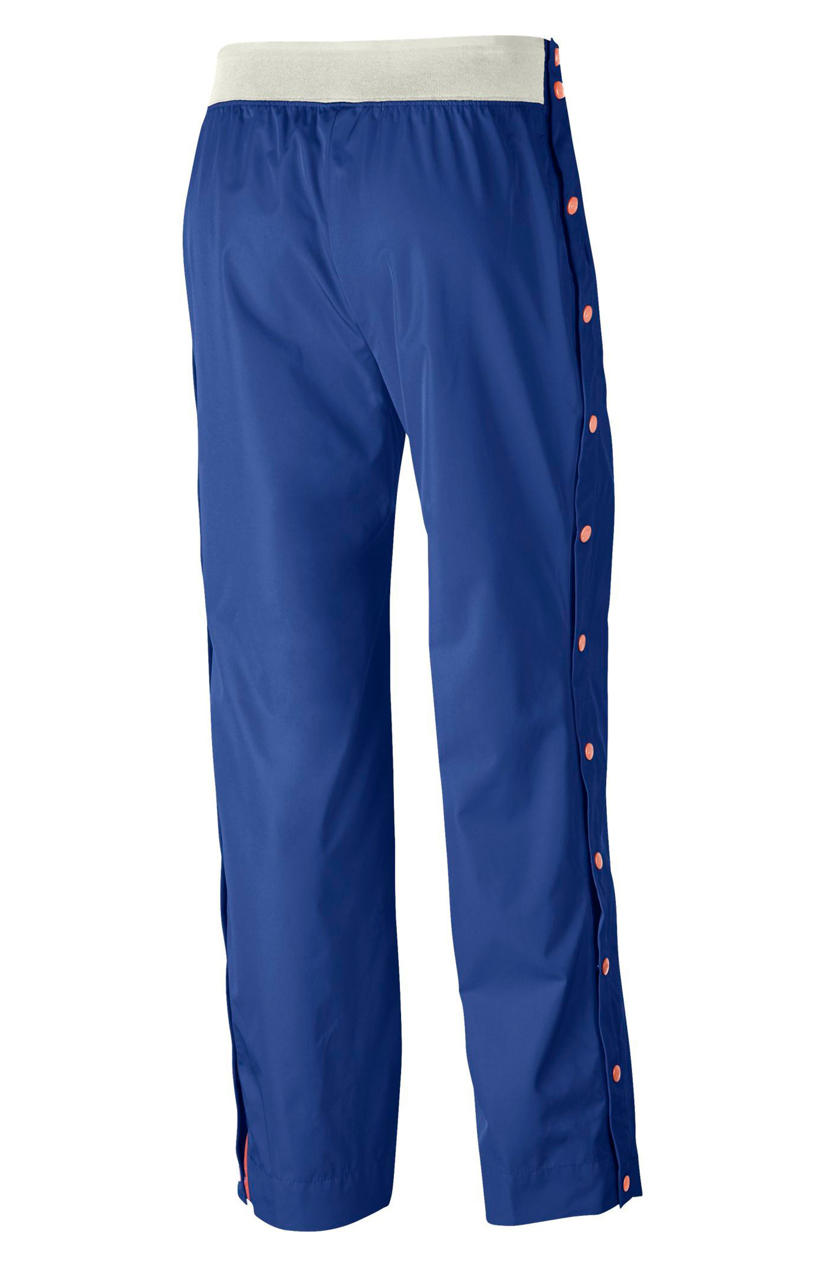 Sportswear Women's Side Snap Pants,                             Alternate thumbnail 2, color,                             Game Royal/ Bleached Coral