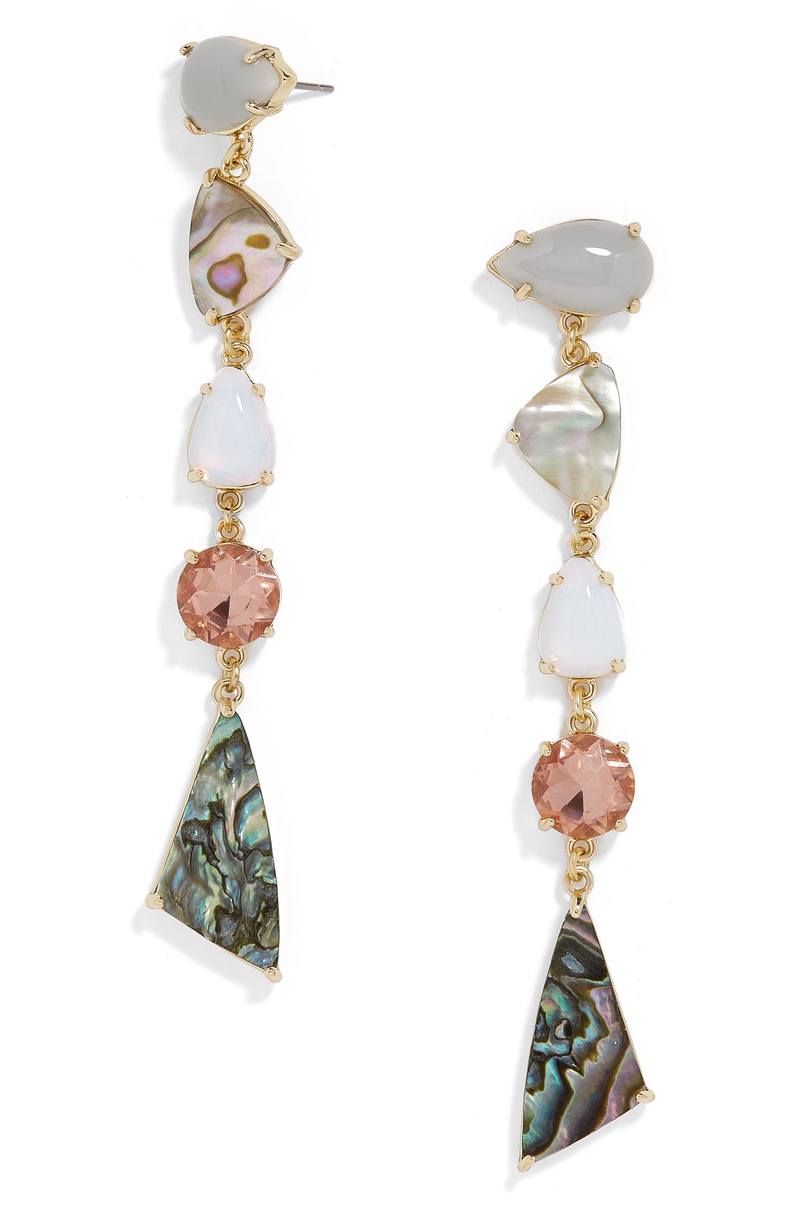 Ambient Linear Drop Earrings,                         Main,                         color, Abalone/ Opal