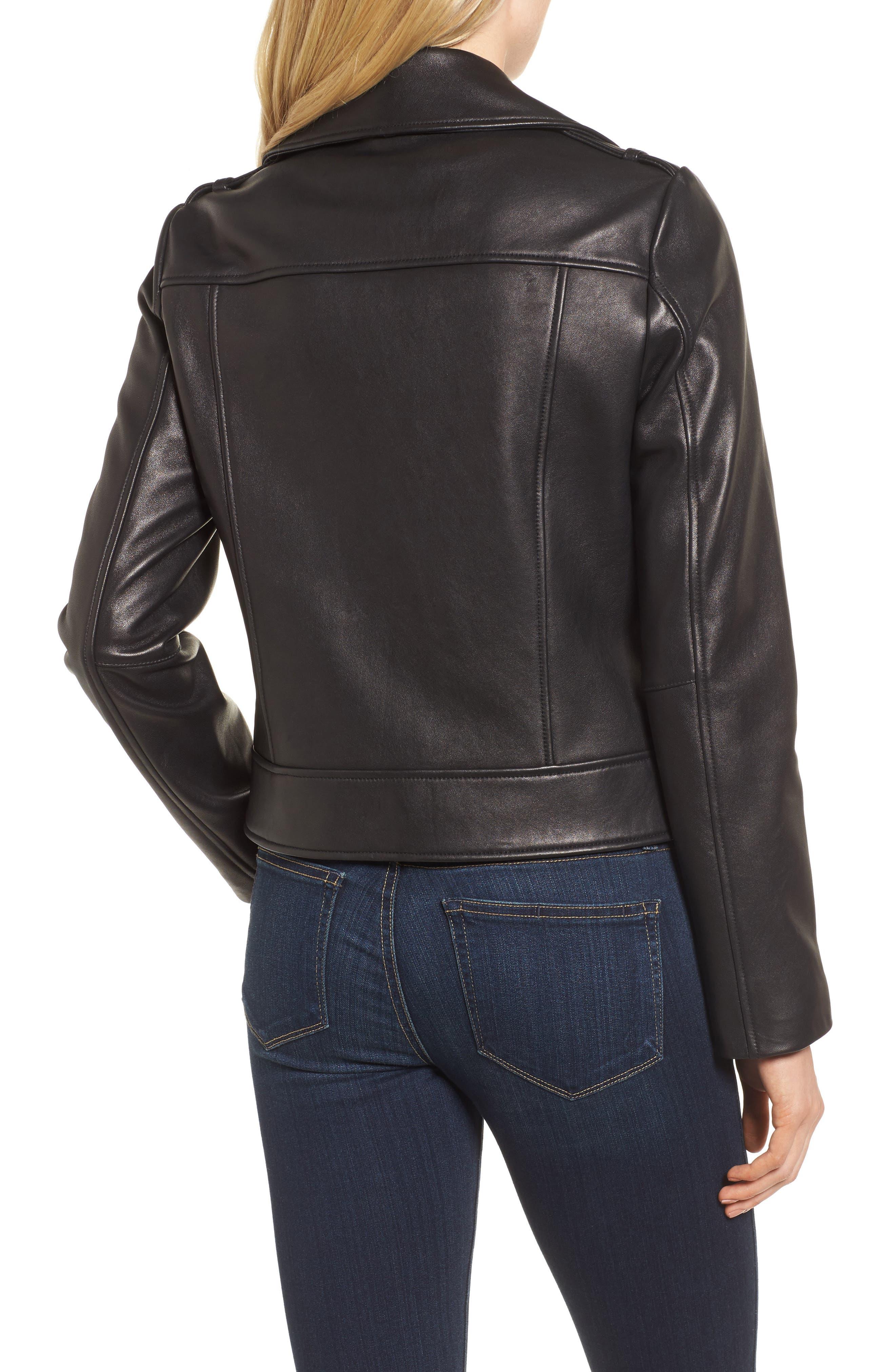 Alternate Image 2  - Cole Haan Signature Leather Moto Jacket