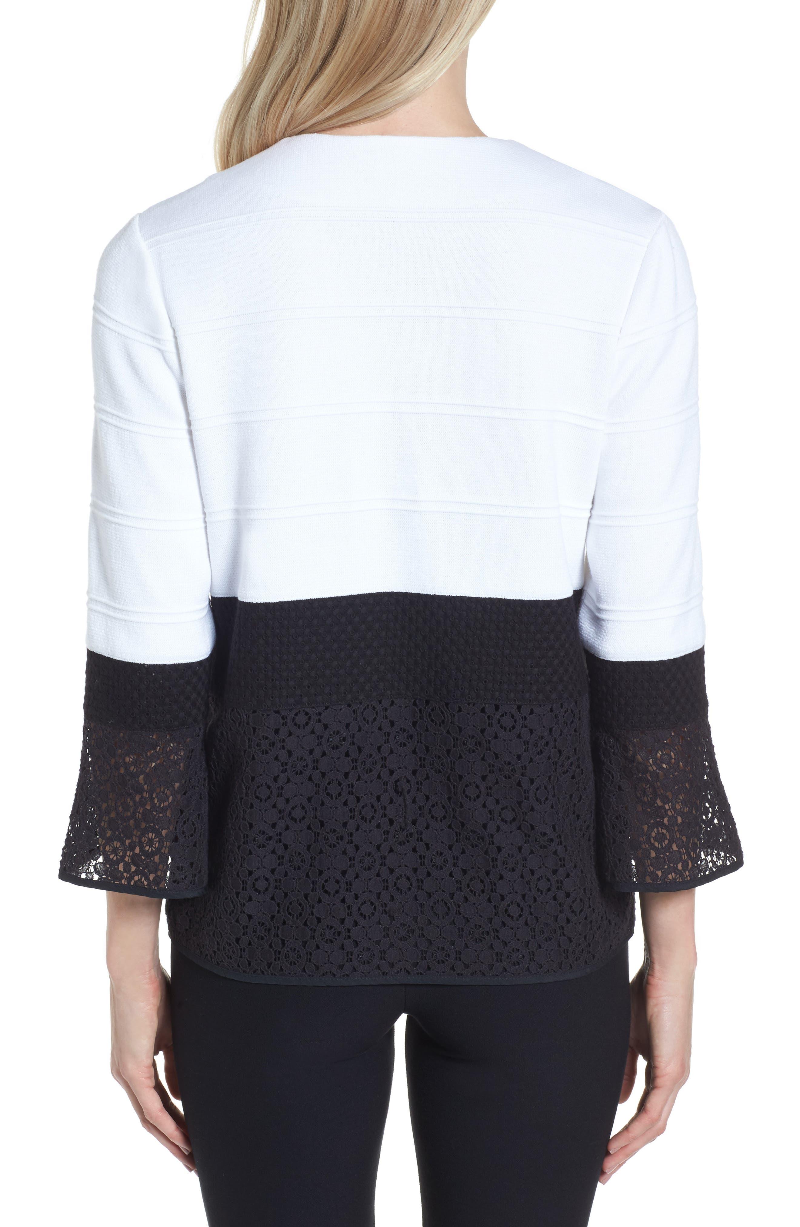 Alternate Image 2  - Ming Wang Knit & Lace Tunic