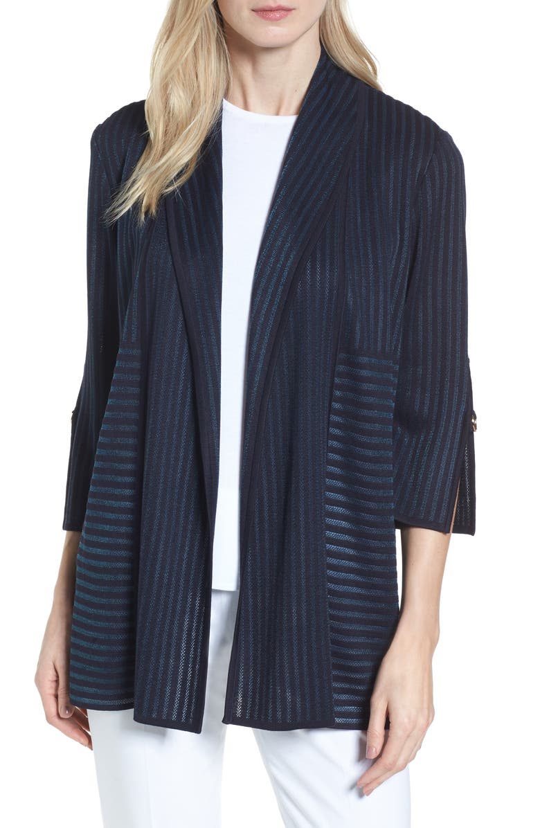 Stripe Jacquard Jacket